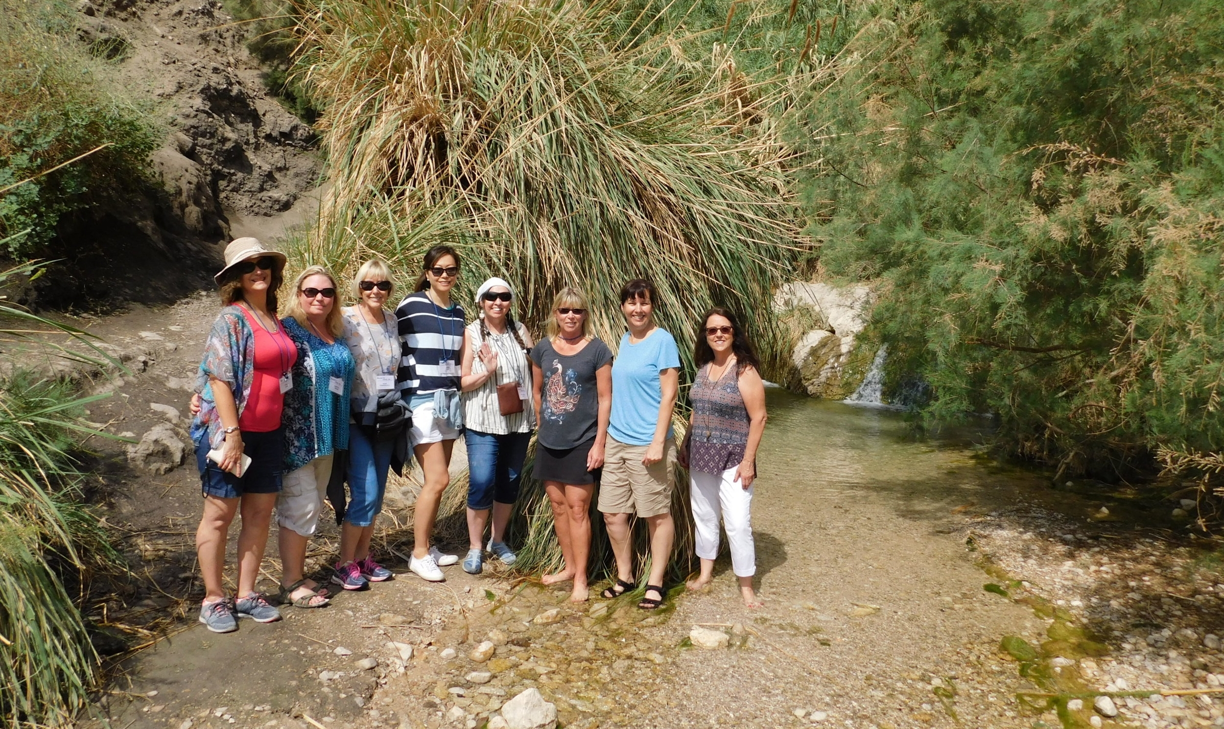 Hiking in En Gedi where David hid in the caves from Saul.