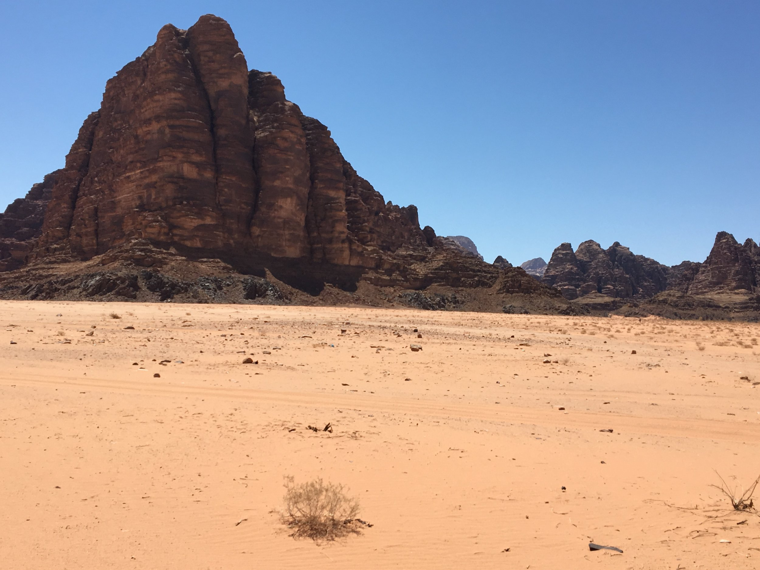 This is the mountain that was filmed in Lawrence of Arabia.