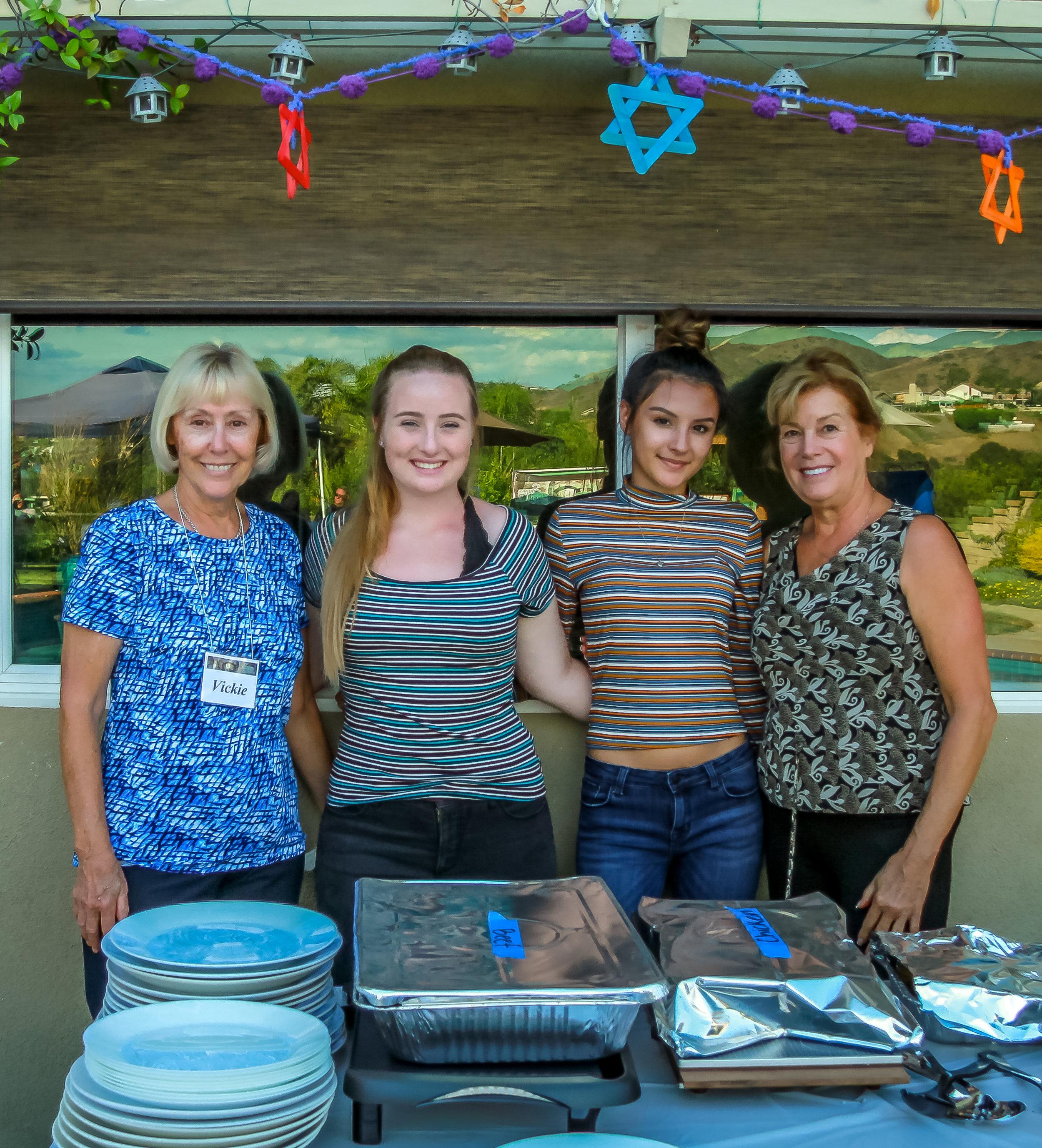 Vickie and our Food volunteers