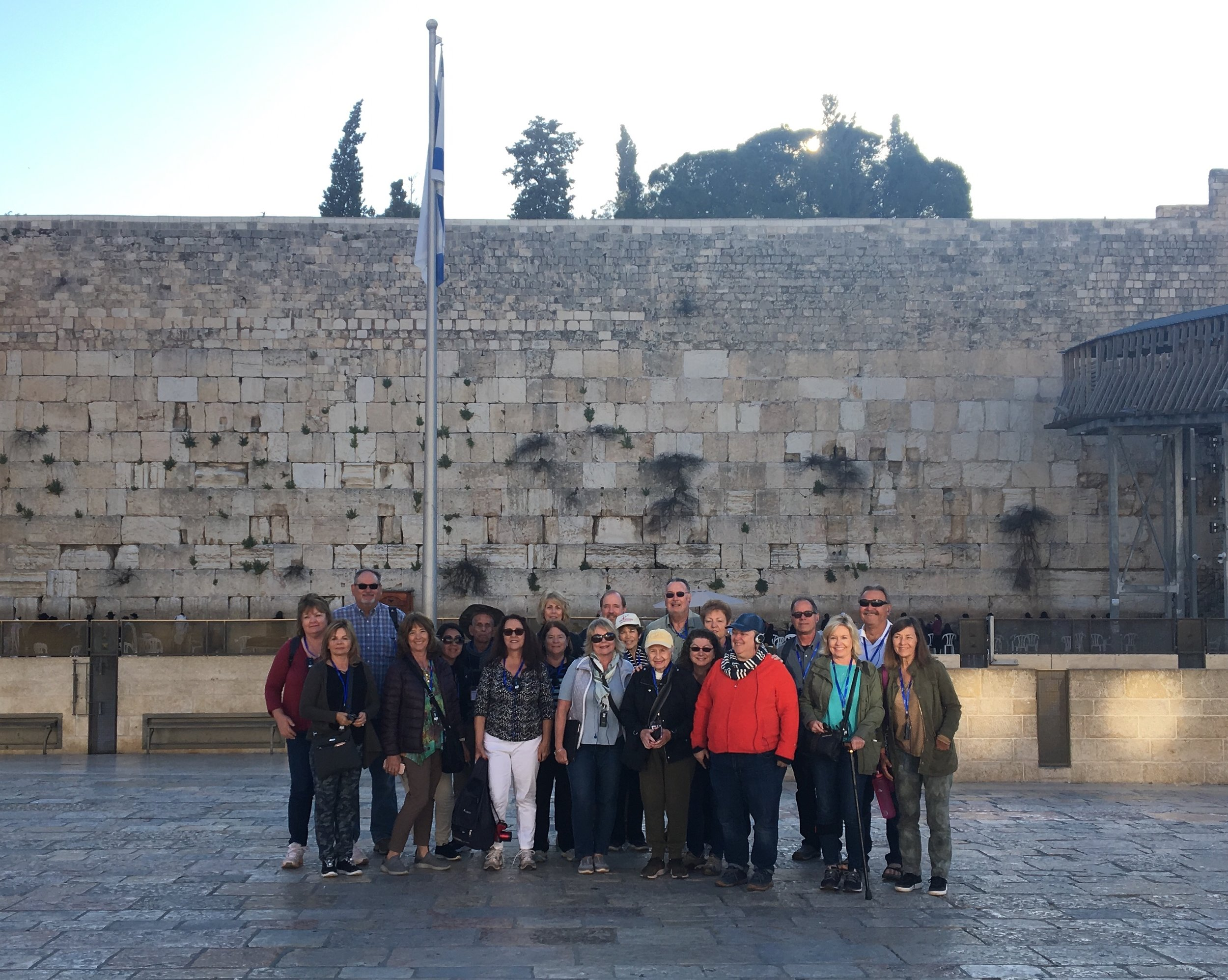 In front of the Western Wall