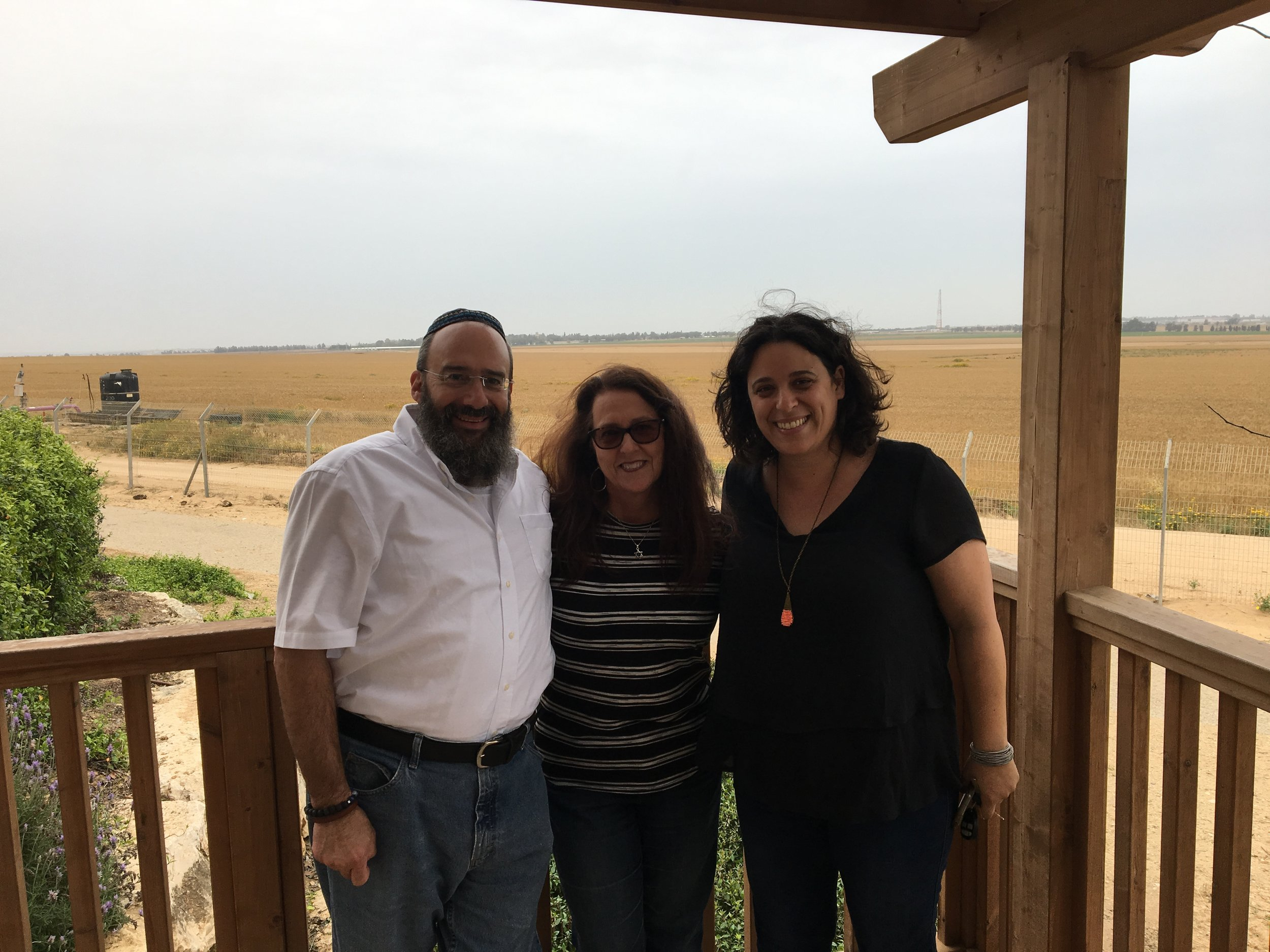 Shmuel Bowman, Deby Brown and Limor Eilat are standing less than a mile from the Gaza border.
