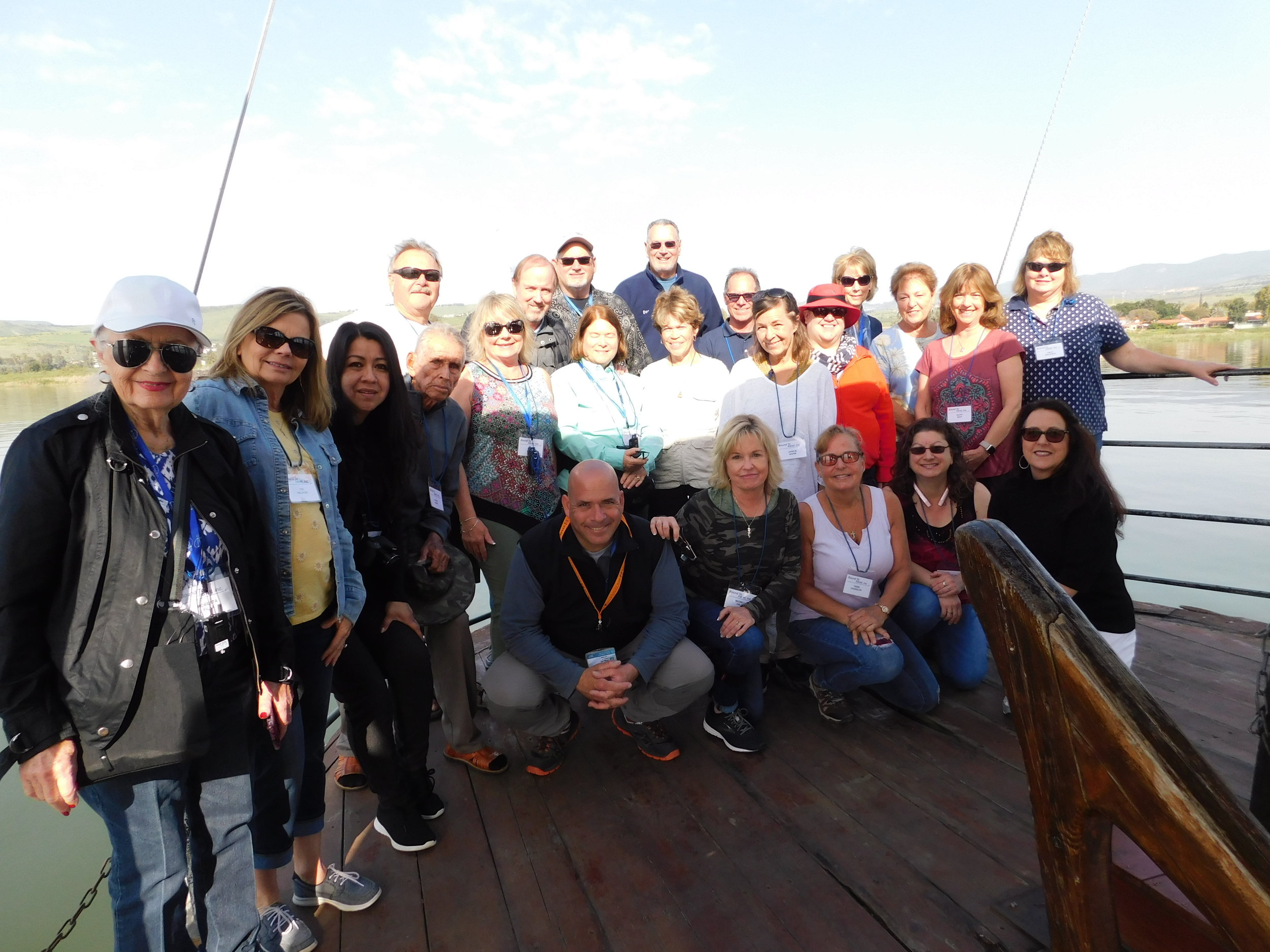 "On the ""Jesus Boat"" in the Sea of Galilee"