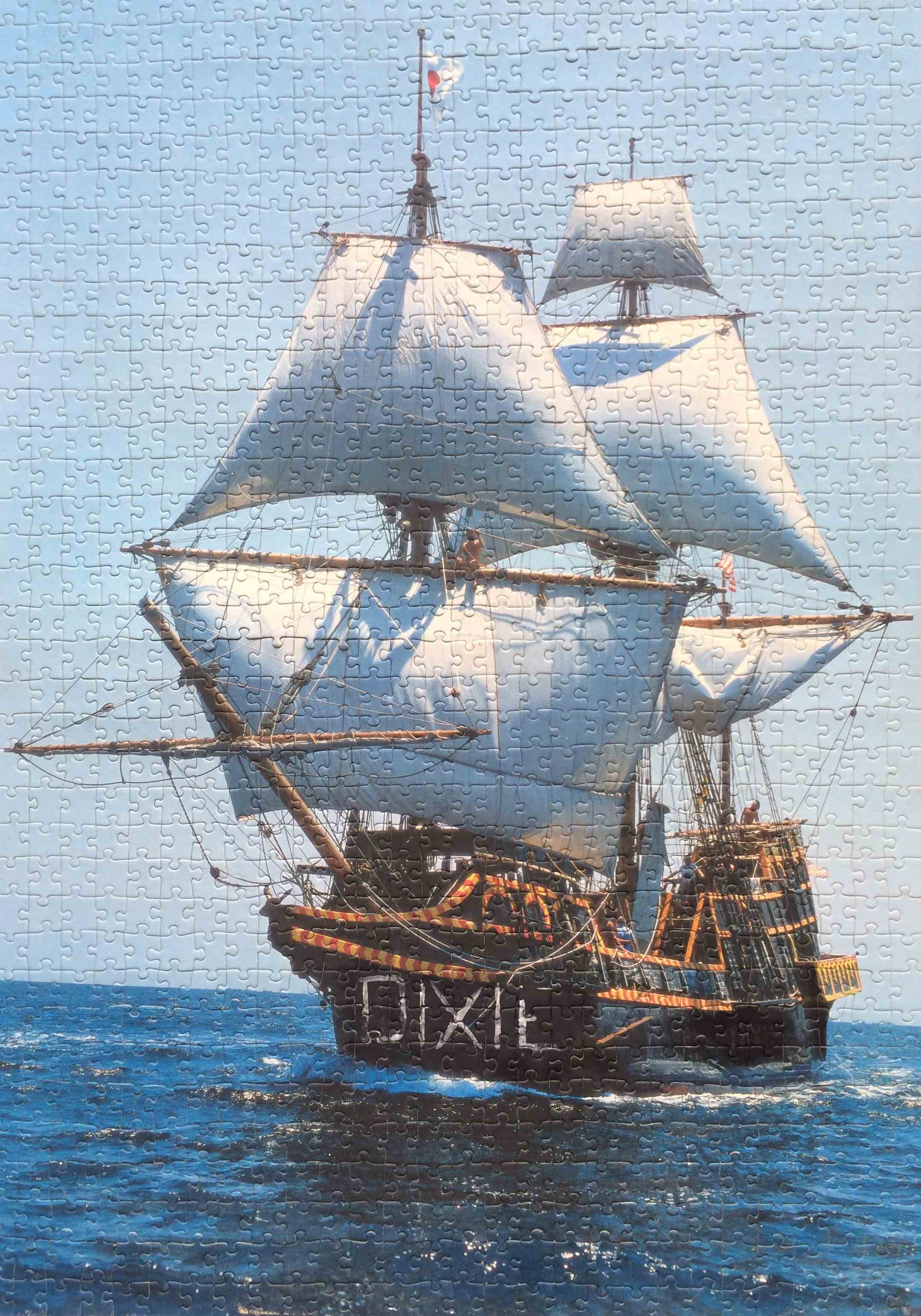 DIXIE   2011, acrylic on found jigsaw puzzle panel; 70x50 cm   Copyright © Tennyson Woodbridge, 1963 to present