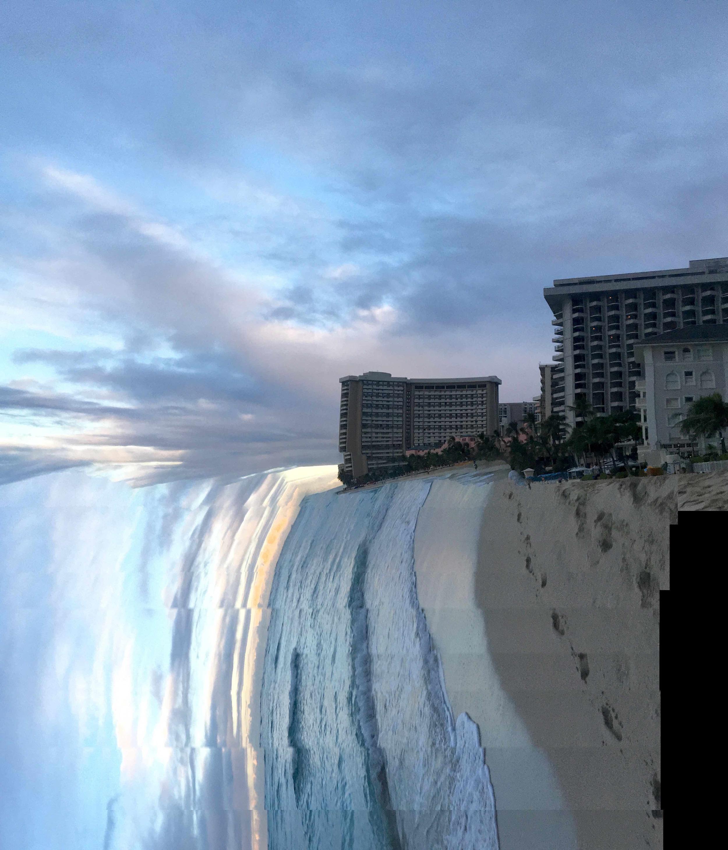 Waikiki Beach,20 January 2016_3  Photograph c  opyright © Tennyson Woodbridge, 1963 to present