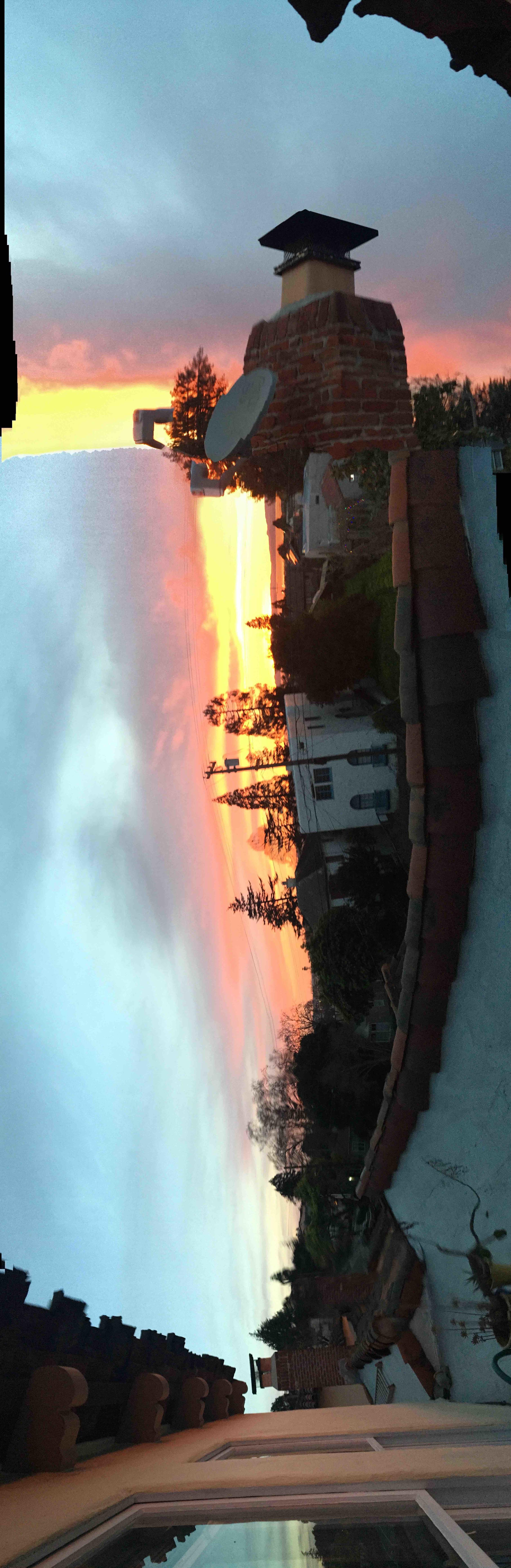 Leap Sunset, 29 February, 2016  Photograph;  Copyright © Tennyson Woodbridge, 1963 to present