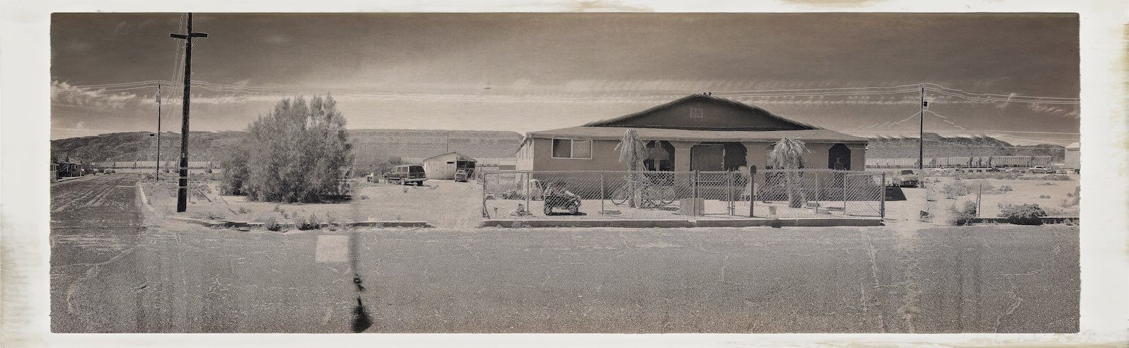 Trona Residential  Digitally Filtered Photograph, 10 March, 2016   Copyright © Tennyson Woodbridge, 1963 to present
