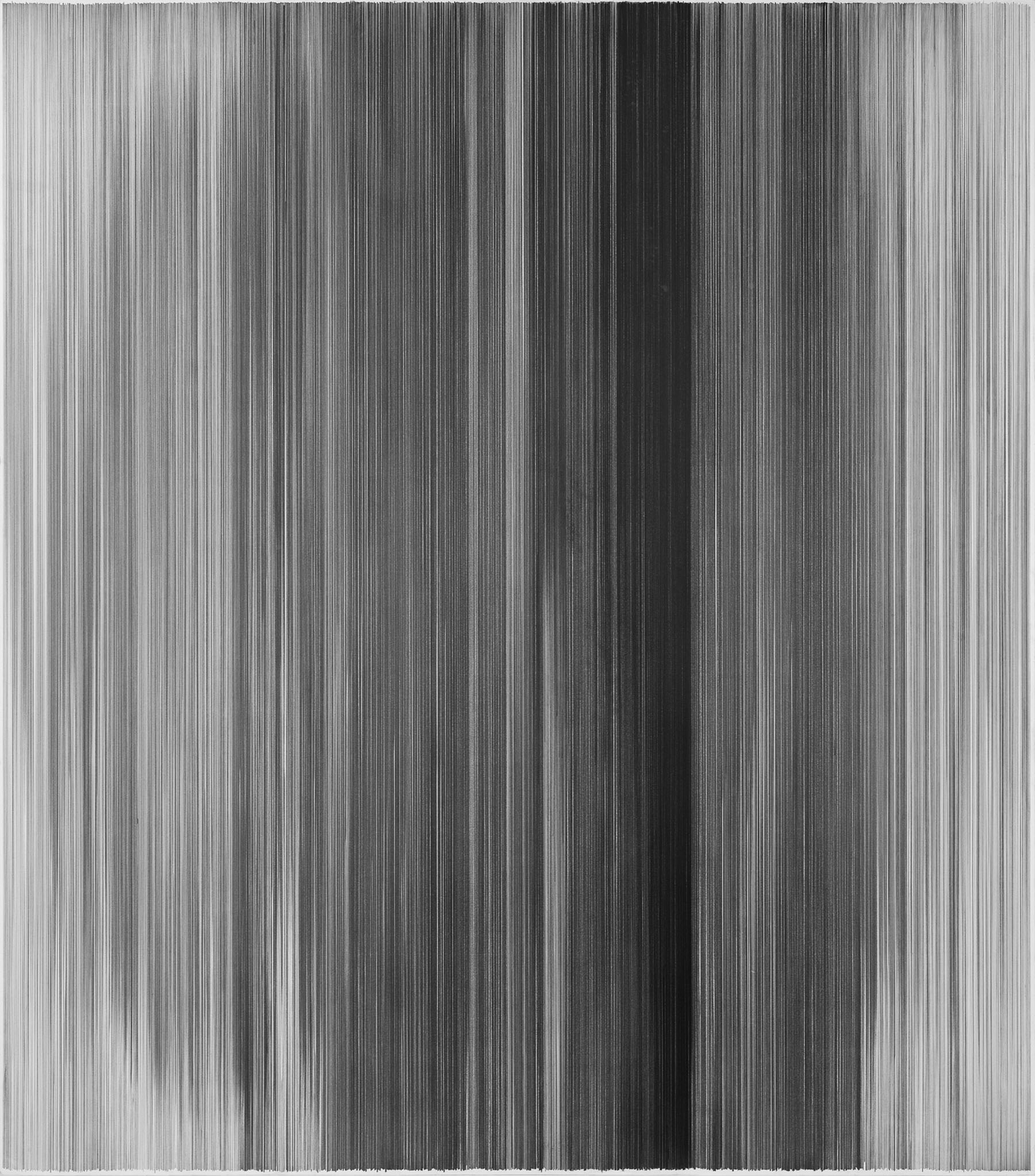 parallel 23   2010 graphite on cotton mat board 50 by 58 inches Collection of Nerman Museum of Contemporary Art, Overland Park, Kansas