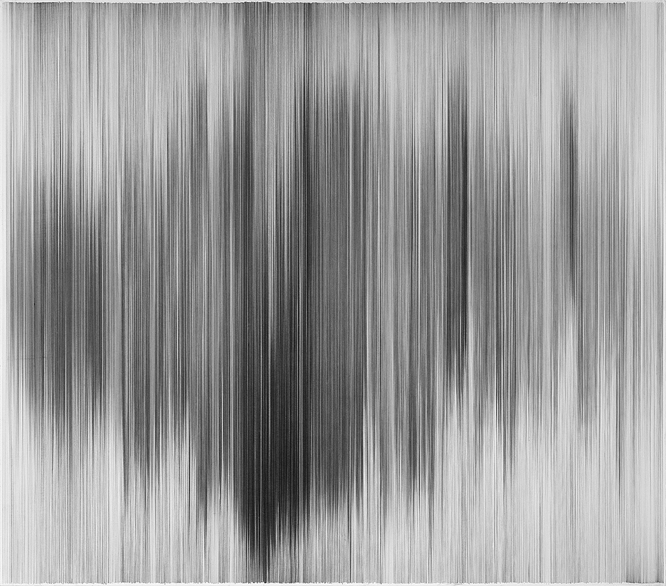 parallel 20   2010 graphite on cotton mat board 58 by 51 inches private collection, Kansas City, Missouri