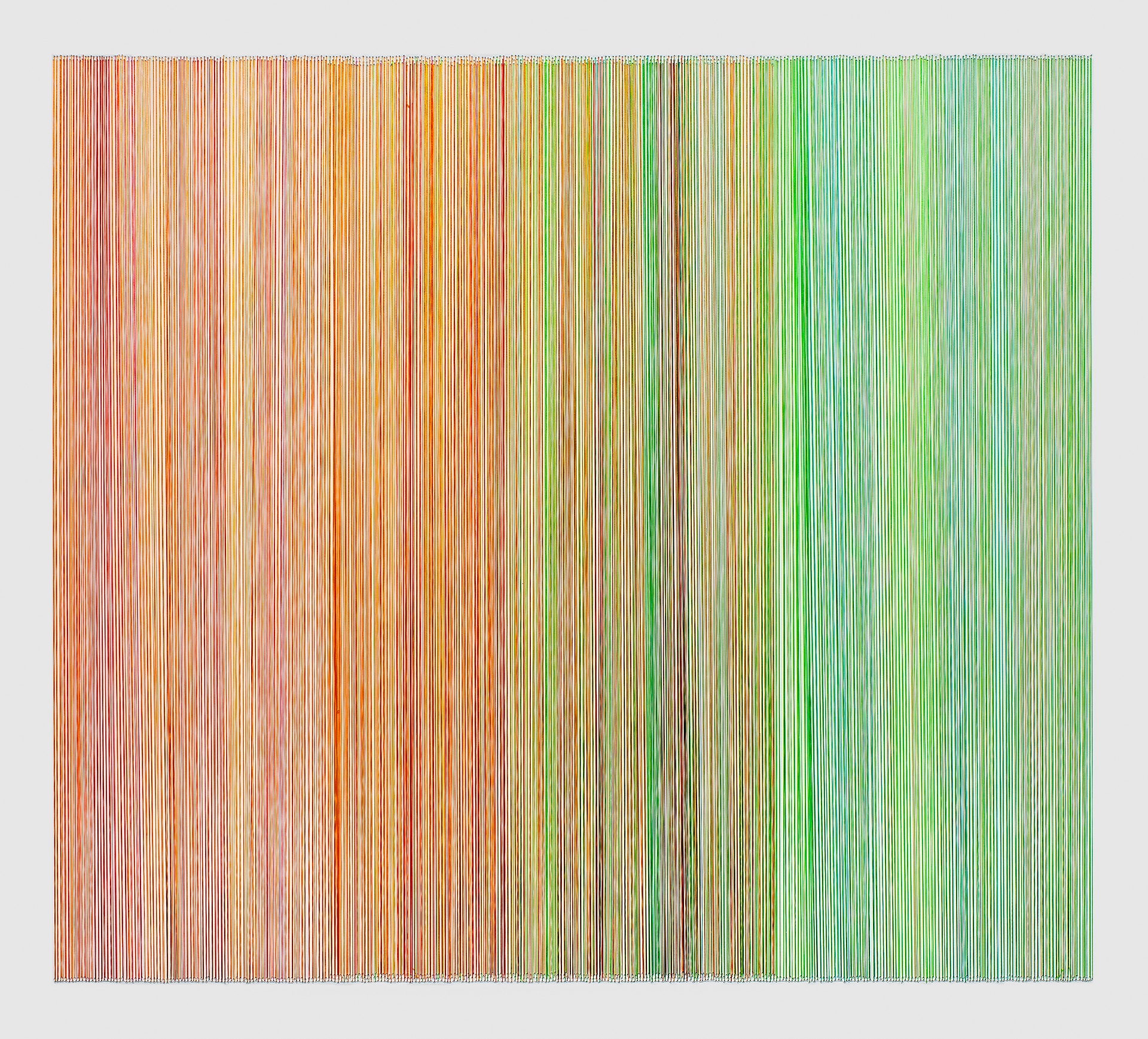 thread drawing 15   2012 rayon thread 31 by 28 inches Private Collection,Fairway, KS