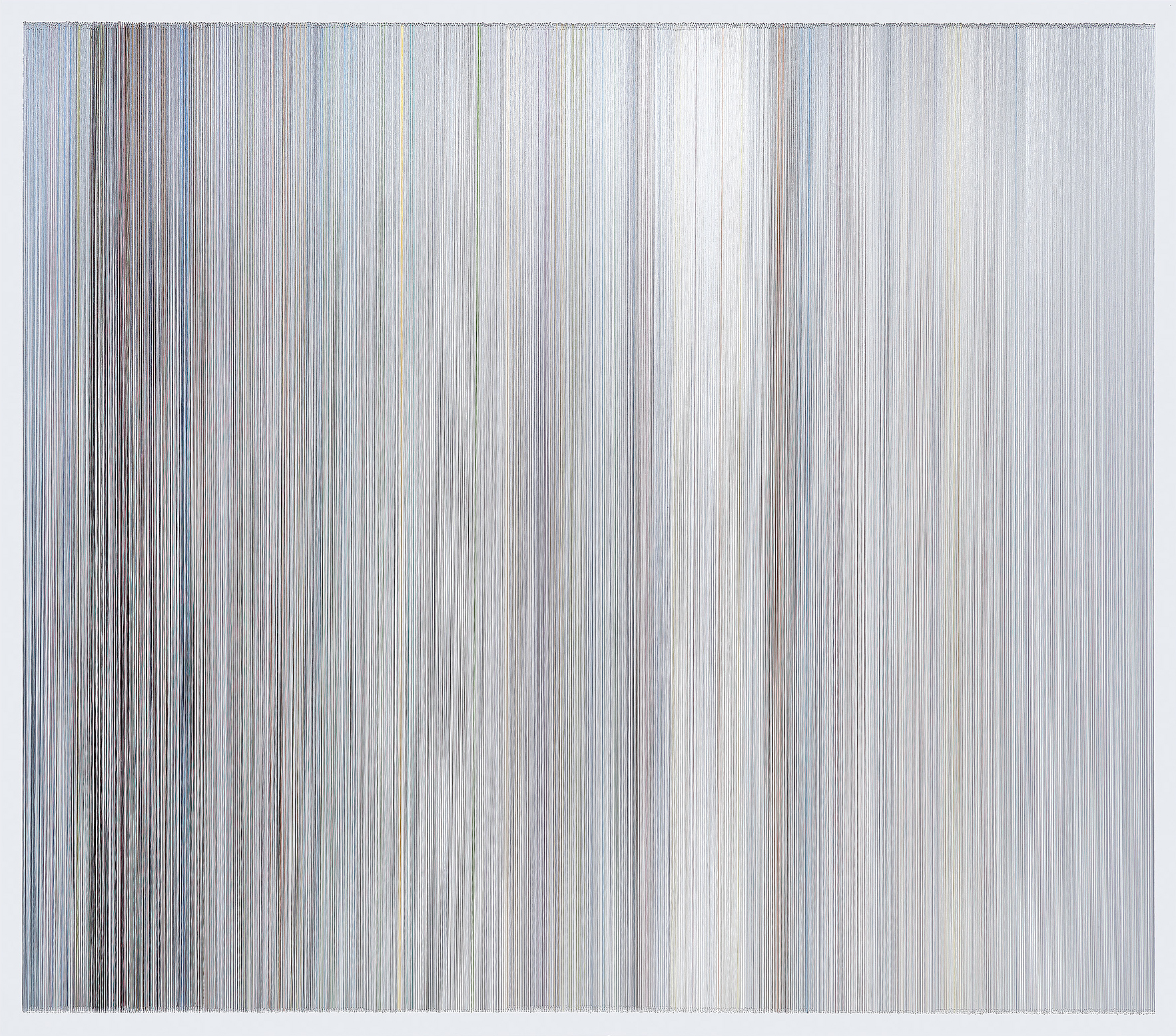 thread drawing 24  2013 rayon thread 58 by 51 inches private collection, Stanford, CA