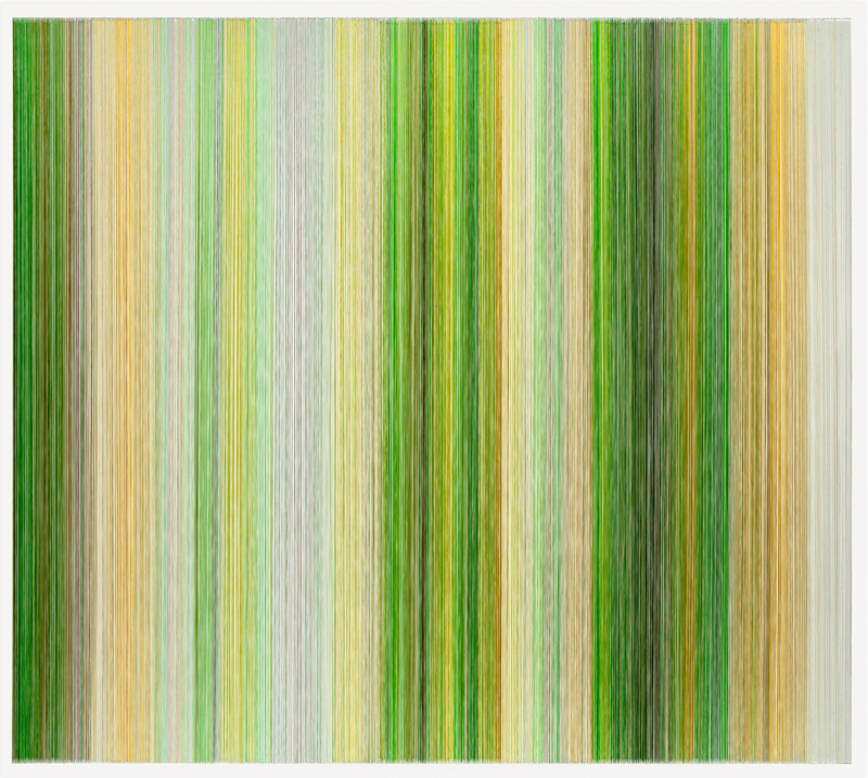 thread drawing 07  2011 rayon thread 58 by 51 inches Collection of Polsinelli Schugart, LLP