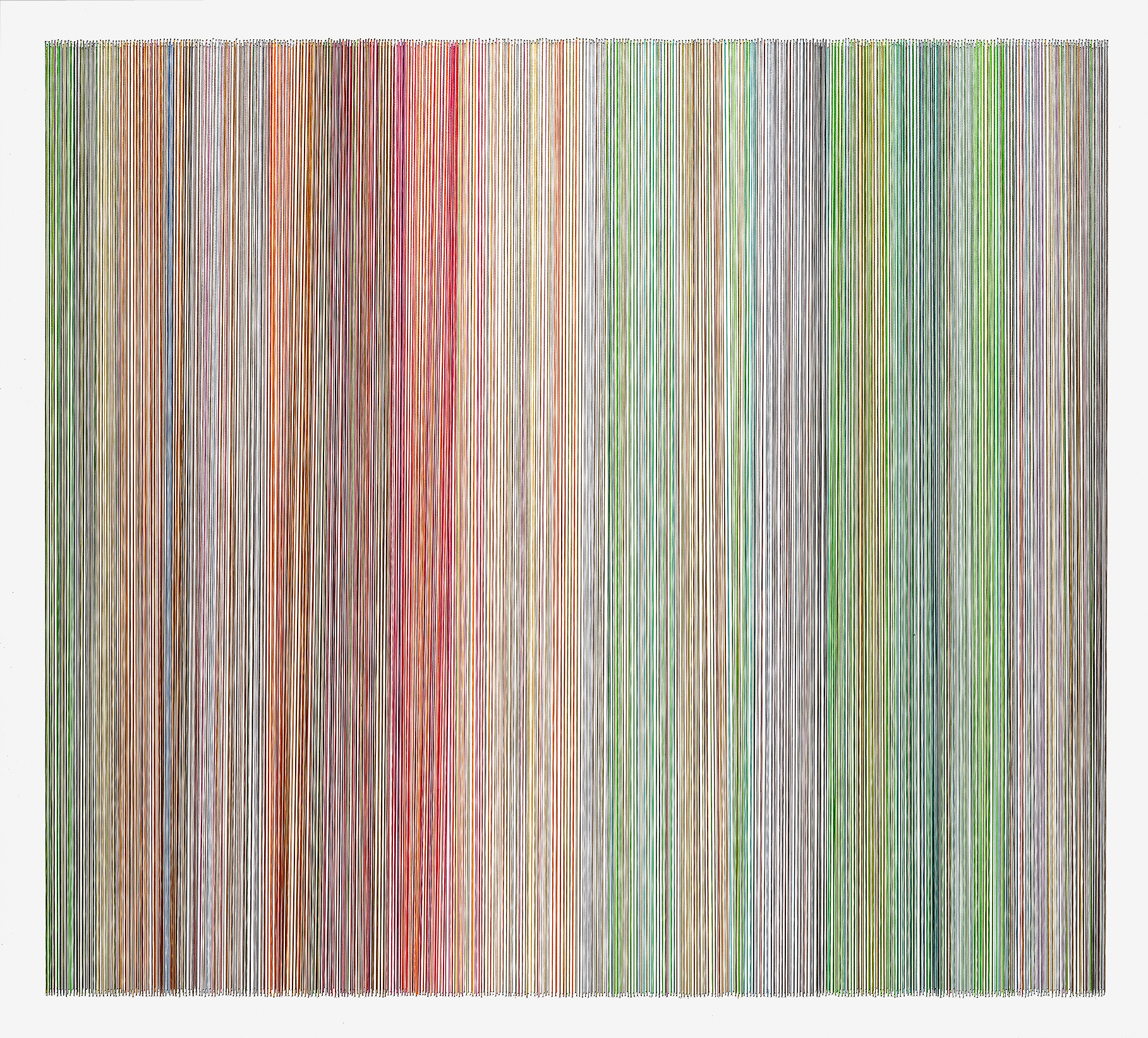 thread drawing 18  2013 rayon thread 31 by 28 inches