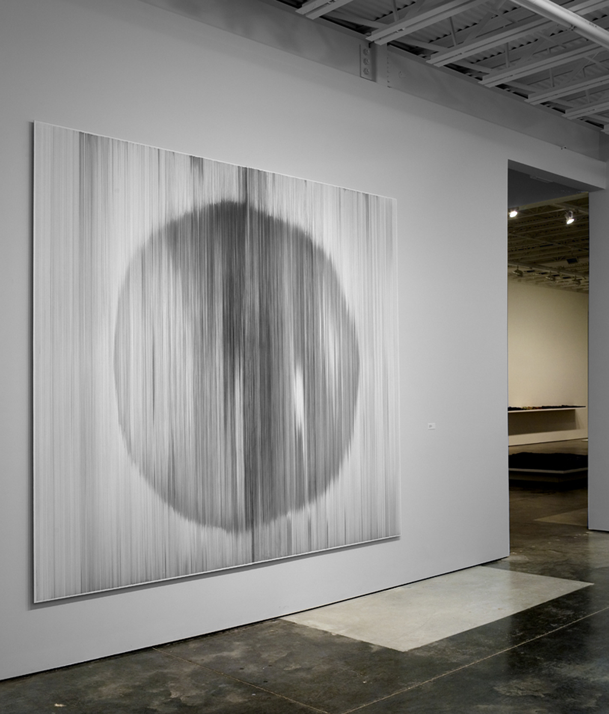 parallel 12 (round)  2009 graphite on cotton mat board 9 by 10 feet Private collection, Dallas, TX