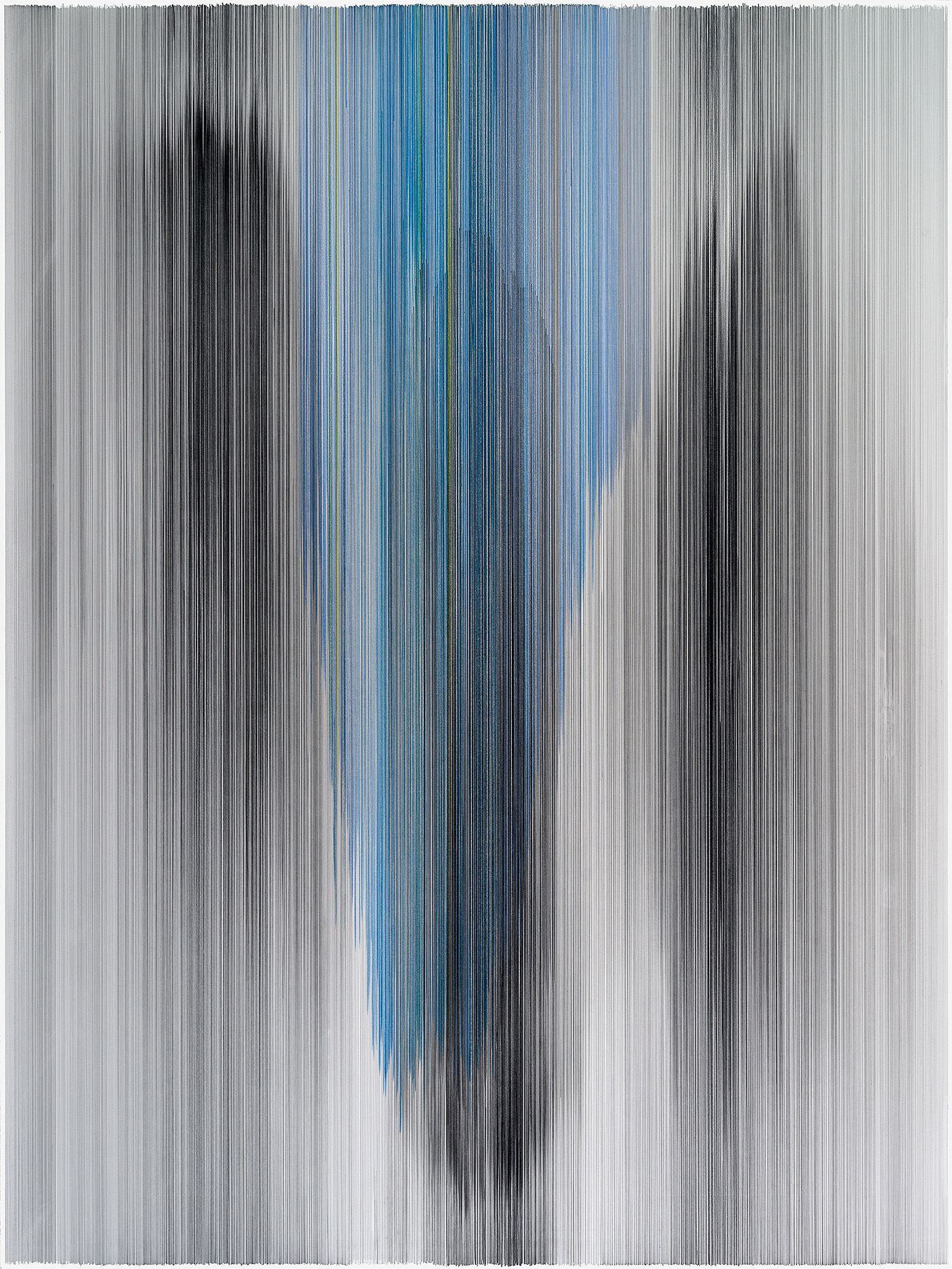 parallel 43  2014 graphite & colored pencil on mat board 60 by 80 inches