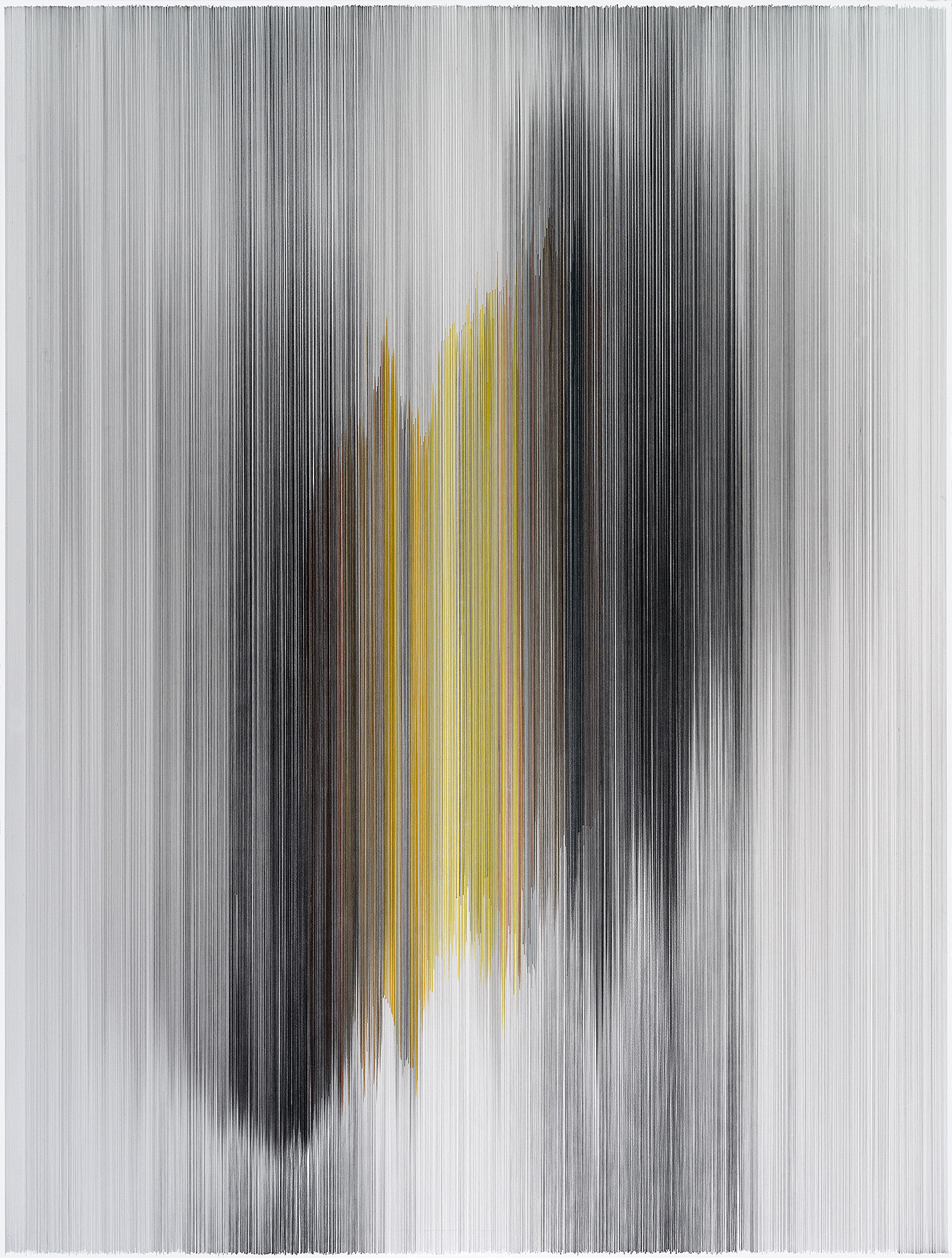 parallel 45  2014 graphite & colored pencil on mat board 60 by 80 inches