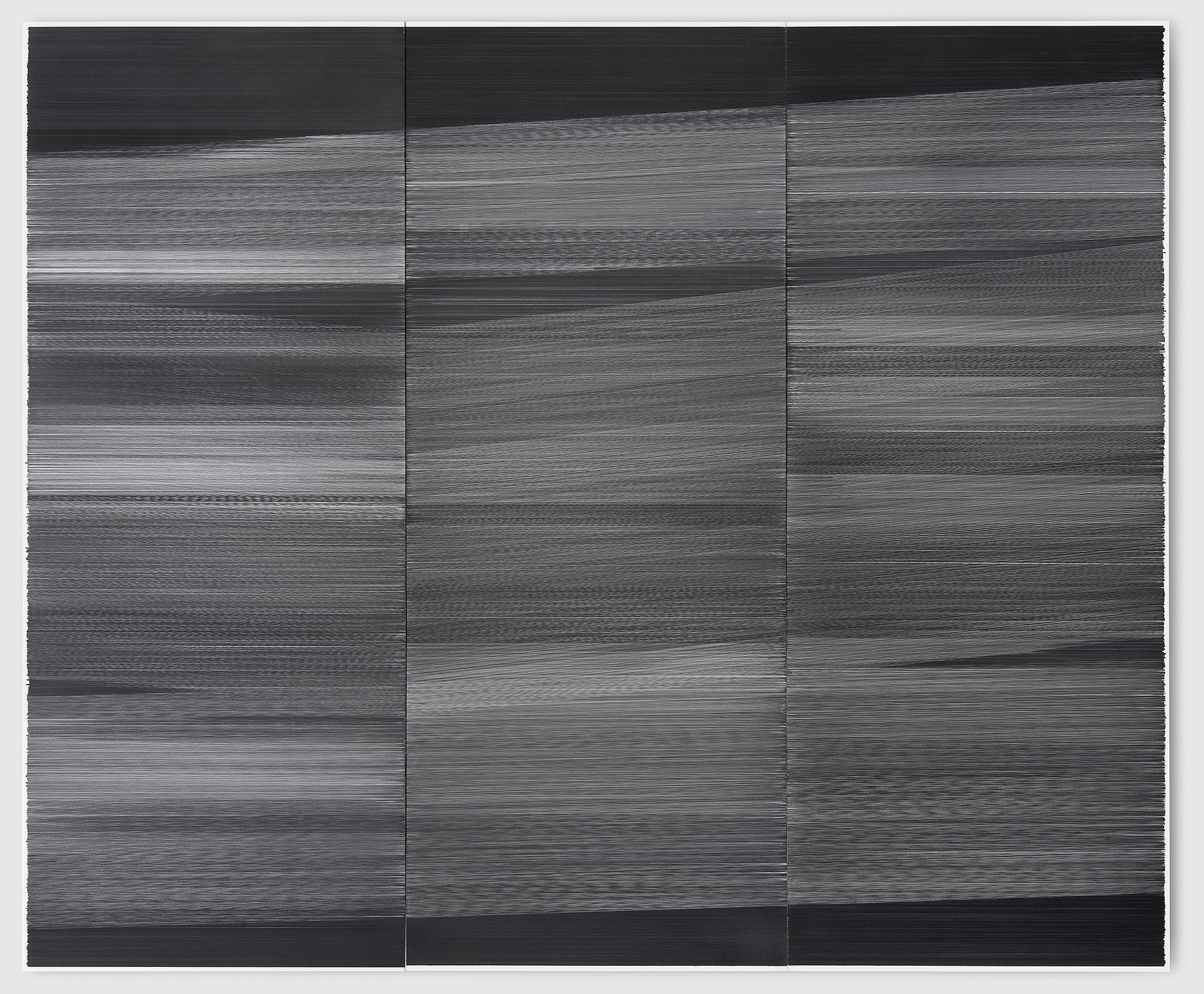 field drawing, 2015 graphite on cotton mat board 55w by 66h inches