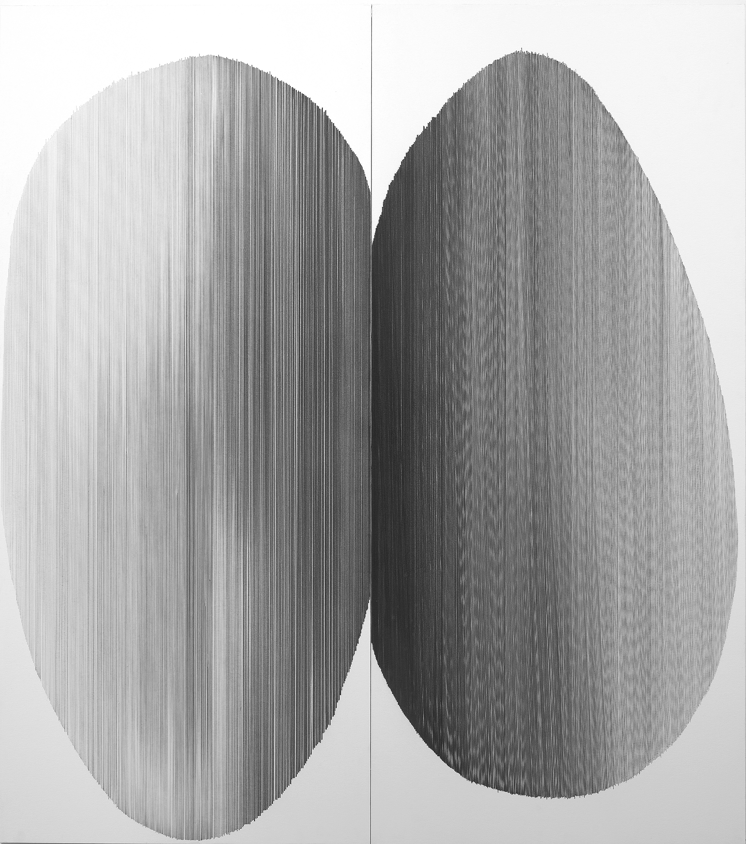 tandem 03   2016   graphite on mat board   44 by 50 inches