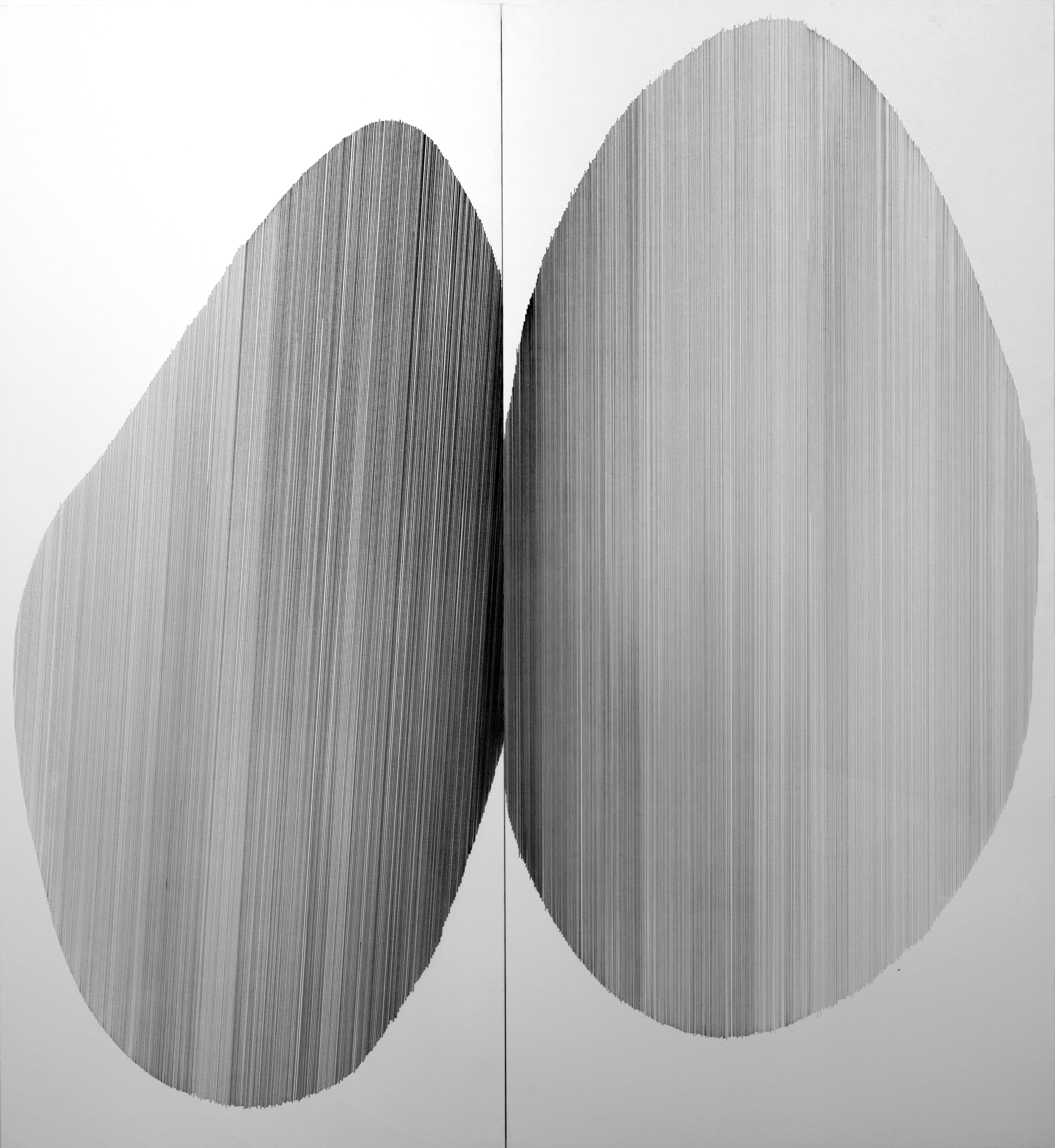 tandem 04   2016   graphite on mat board   46 by 50 inches