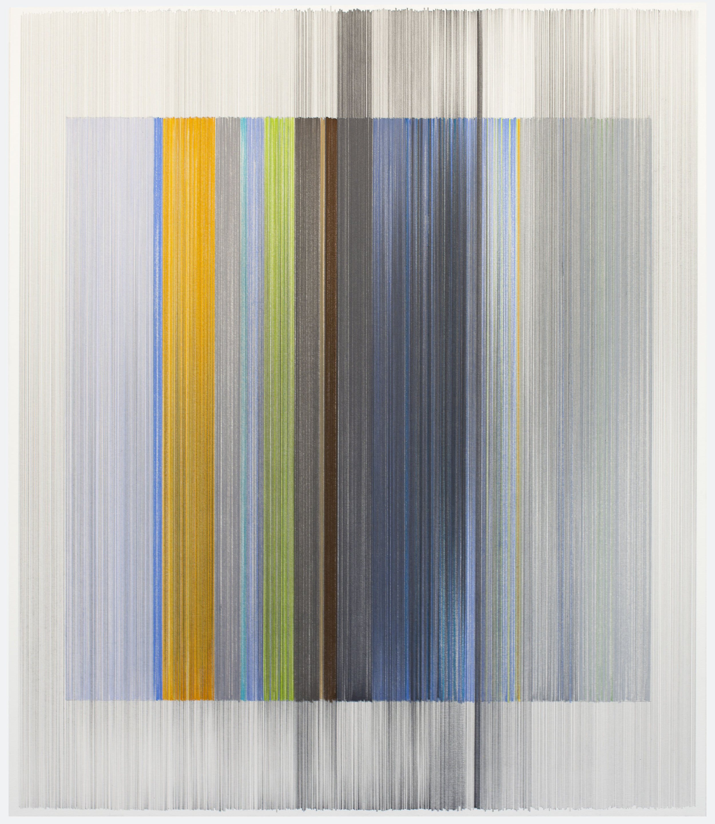 unfold 11   2016   graphite & colored pencil on mat board   24 by 28 inches