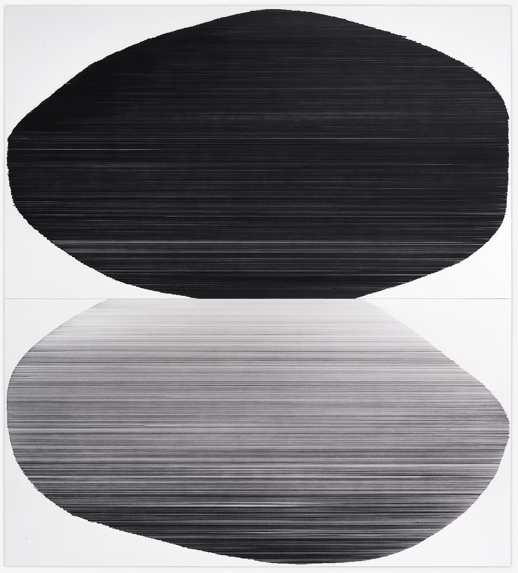 tandem 05   2016   graphite on mat board   59 by 65 inches private collection, MIssion Hills, KS