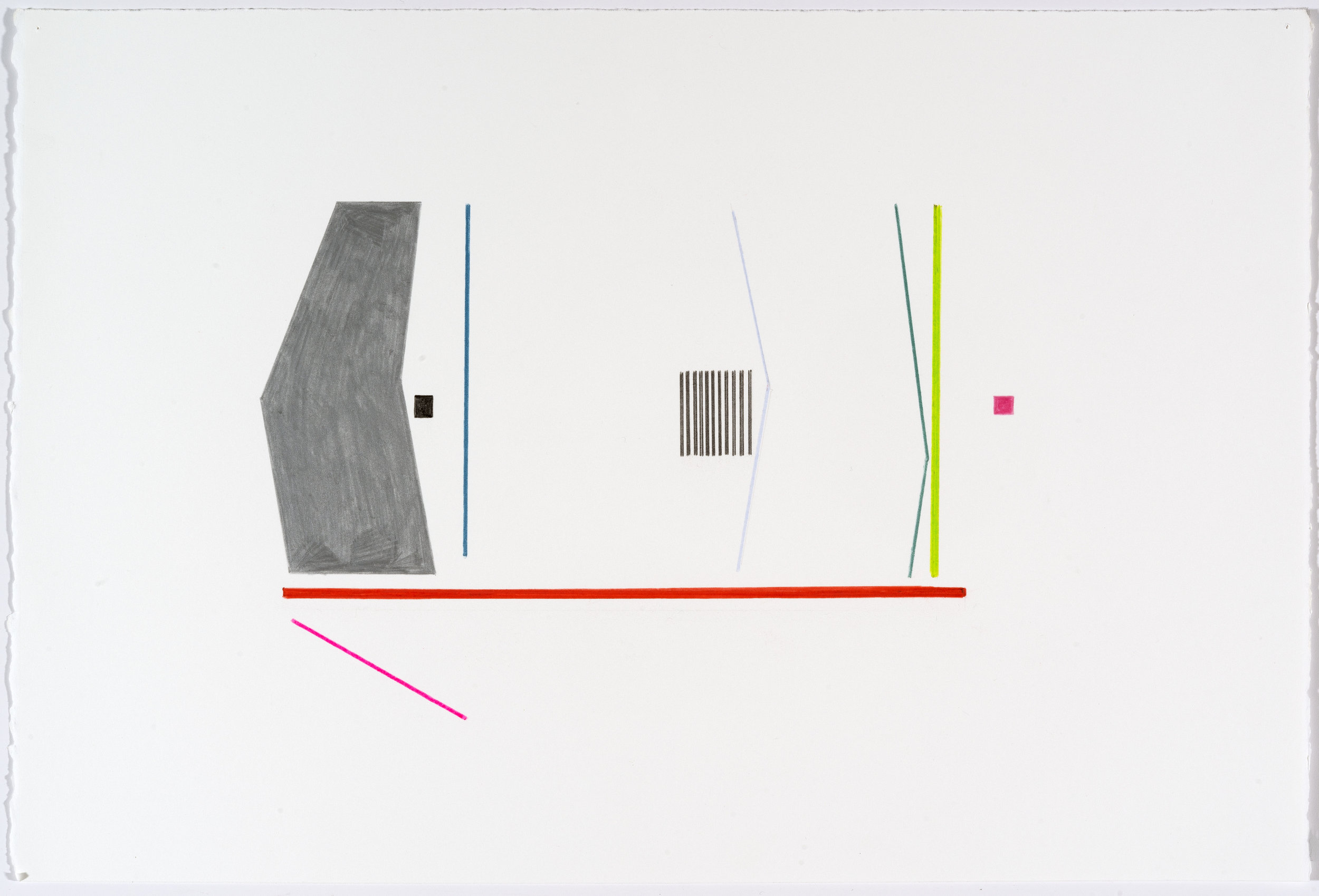 Anne Lindberg   work of the collective 39   2017 graphite, acrylic and colored pencil on paper 20 by 15 inches  photography by EG Schempf