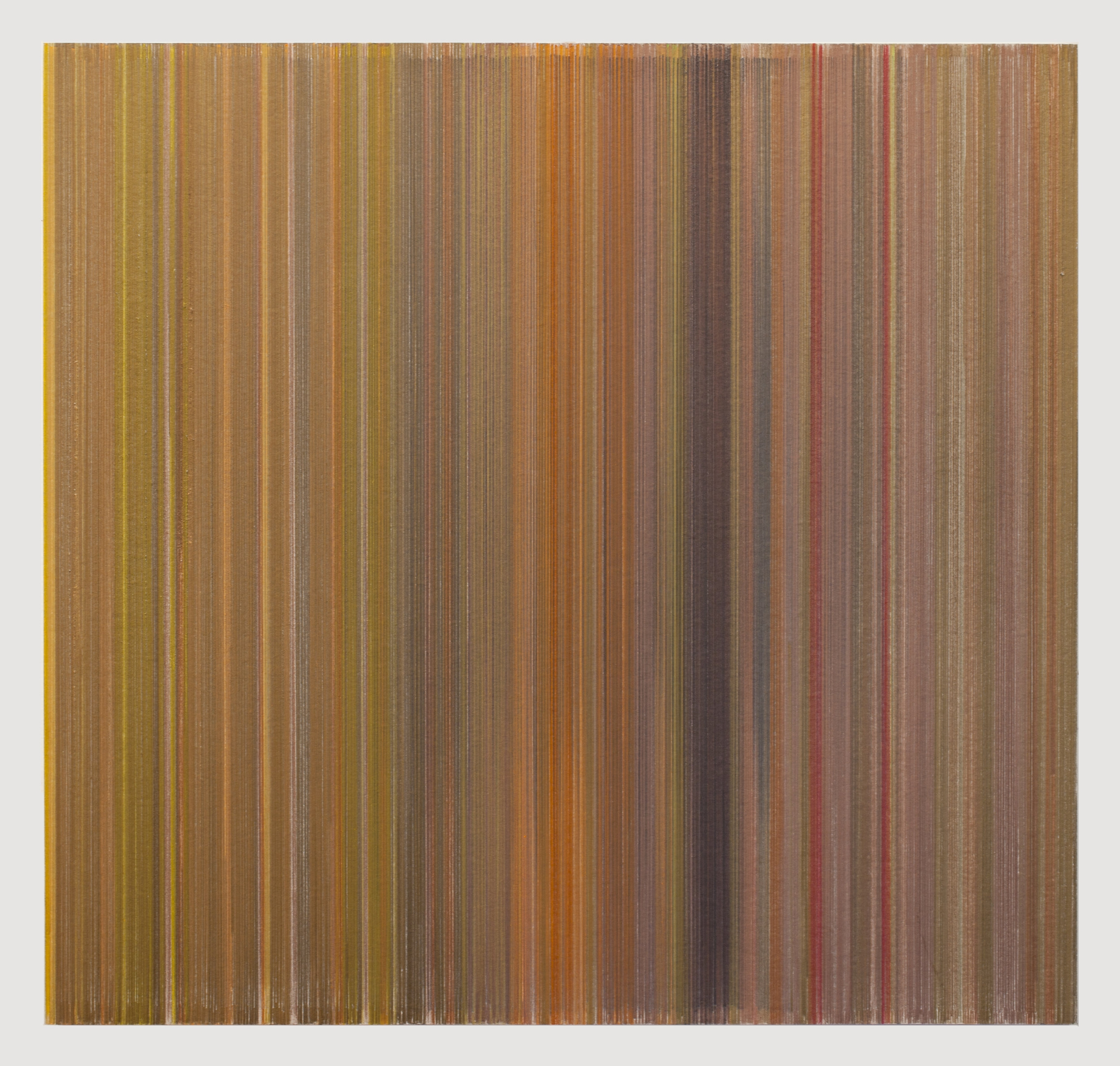 Anne Lindberg,   vertigo  , 2017 graphite and colored pencil on mat board, 19 by 18 inches