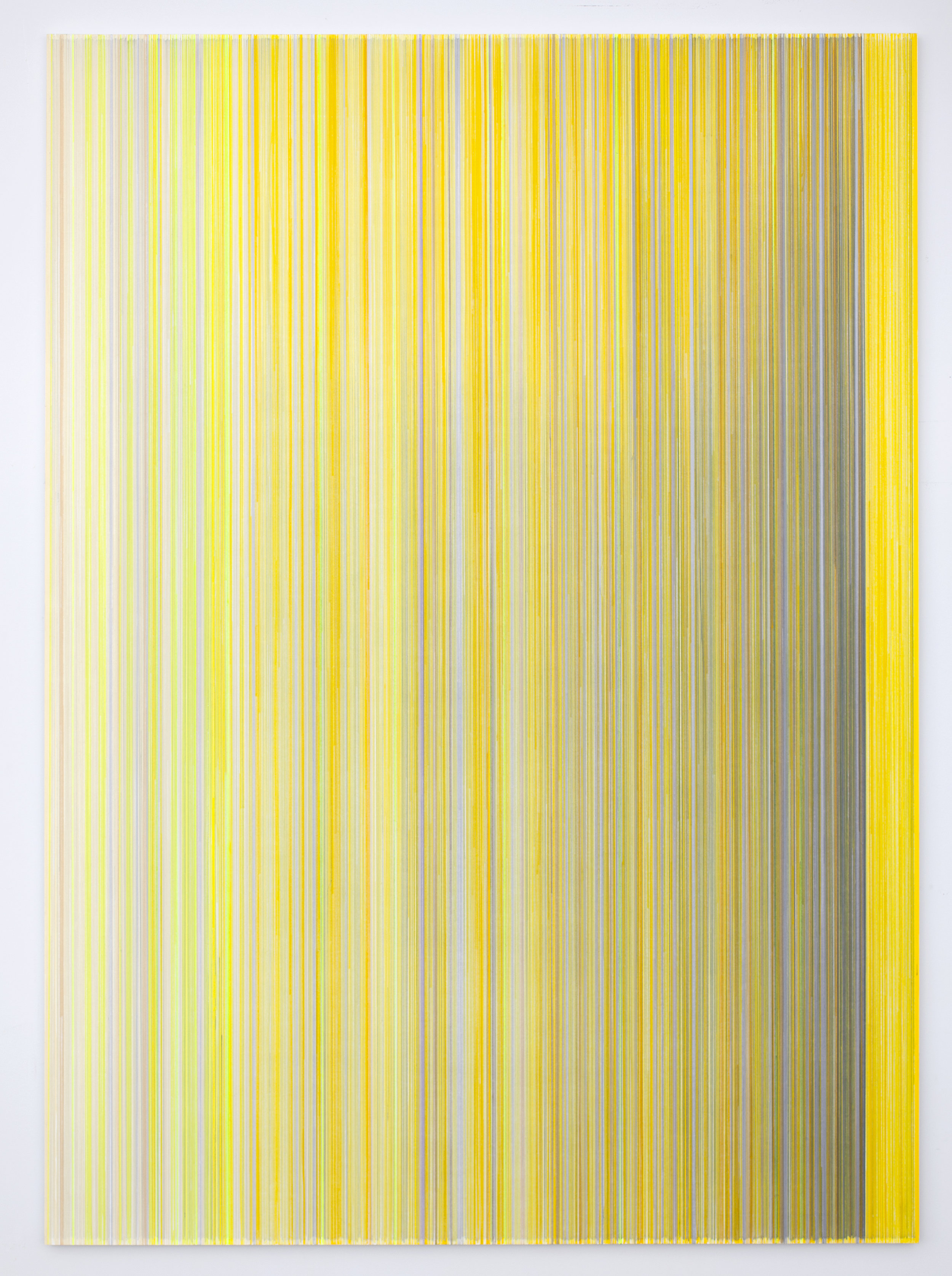 sound I saw   2018 graphite and colored pencil on mat board 70 by 50 inches title from Teju Cole's poem  Brienzersee,  published in  Blind Spot , page 120