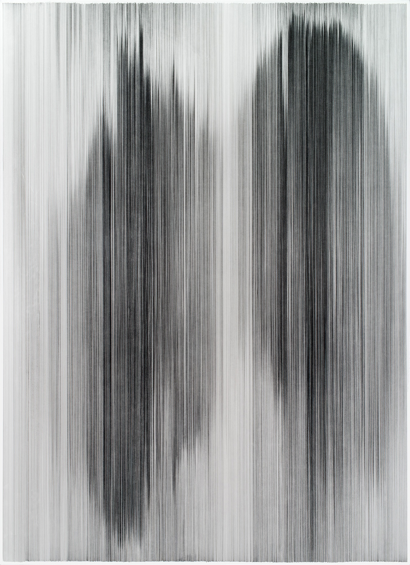 parallel 38  2014 graphite on mat board 80 by 60 inches The Howard and Cindy Rachofsky Collection, Dallas, TX
