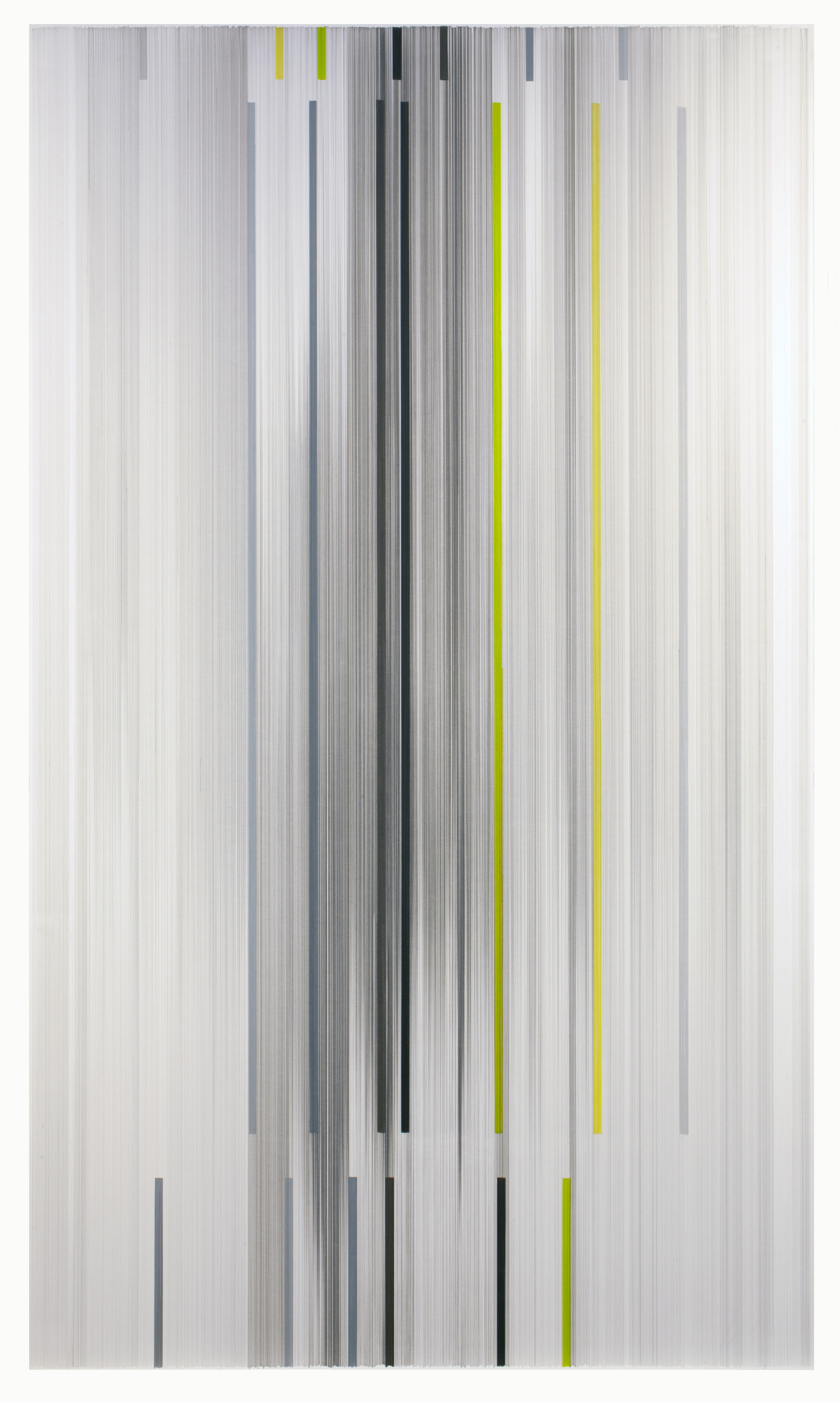 Anne Lindberg ,  future construct , 2019 graphite and colored pencil on mat board, 102 by 59 inches
