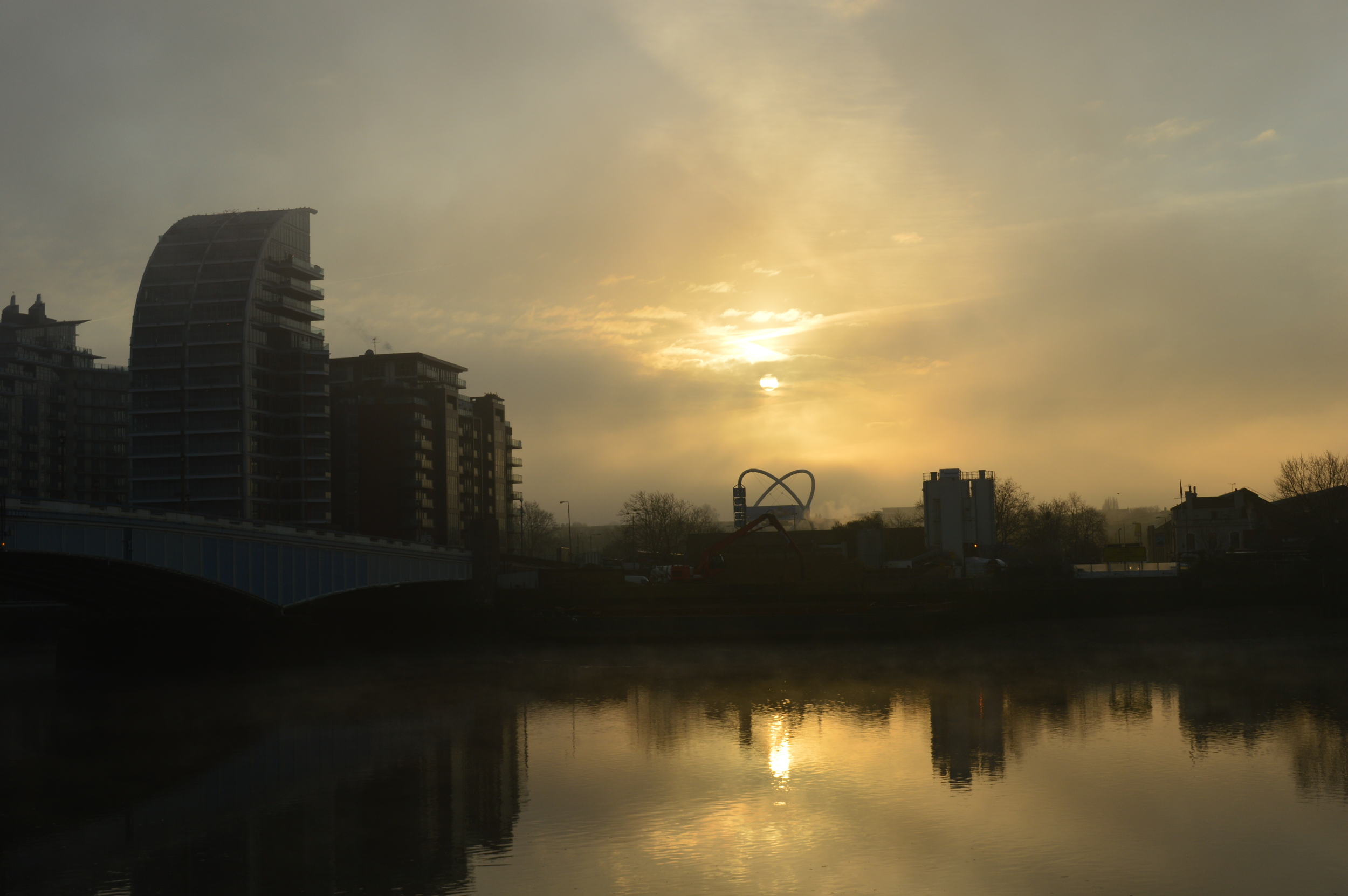 The River Thames by Wandsworth Bridge