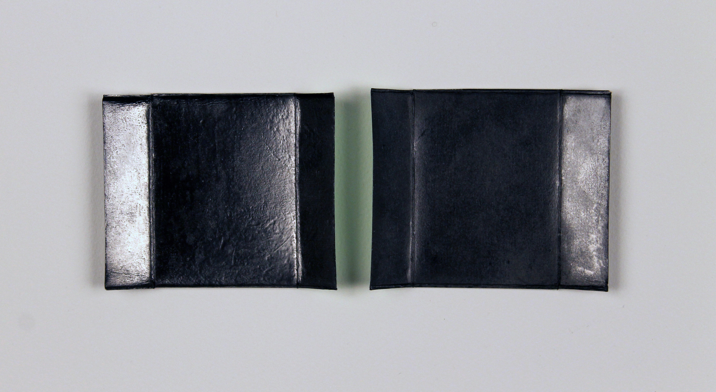 "Chroma (Green for Derek Jarman)  Graphite powder, silkscreened pigment, archival wax on cardboard, 12.25"" x 15.25"" (framed), 2013"
