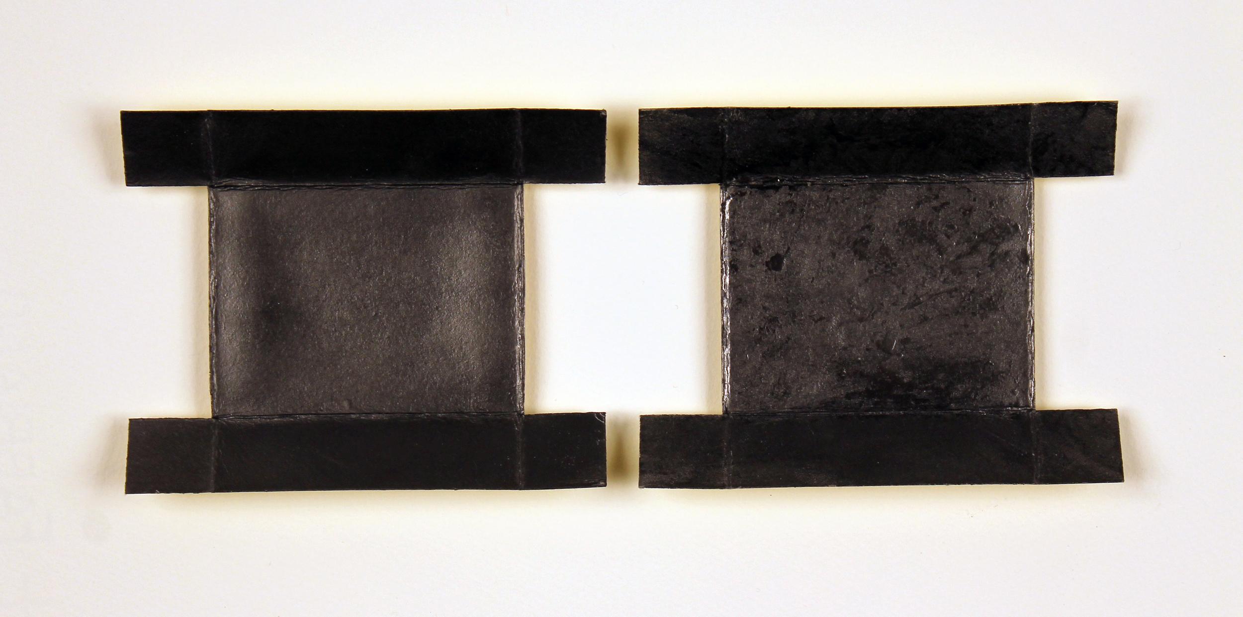 "Chroma (Yellow for Derek Jarman)  Graphite powder, silkscreened pigment, archival wax on cardboard, 12.25"" x 15.25"" (framed), 2013"
