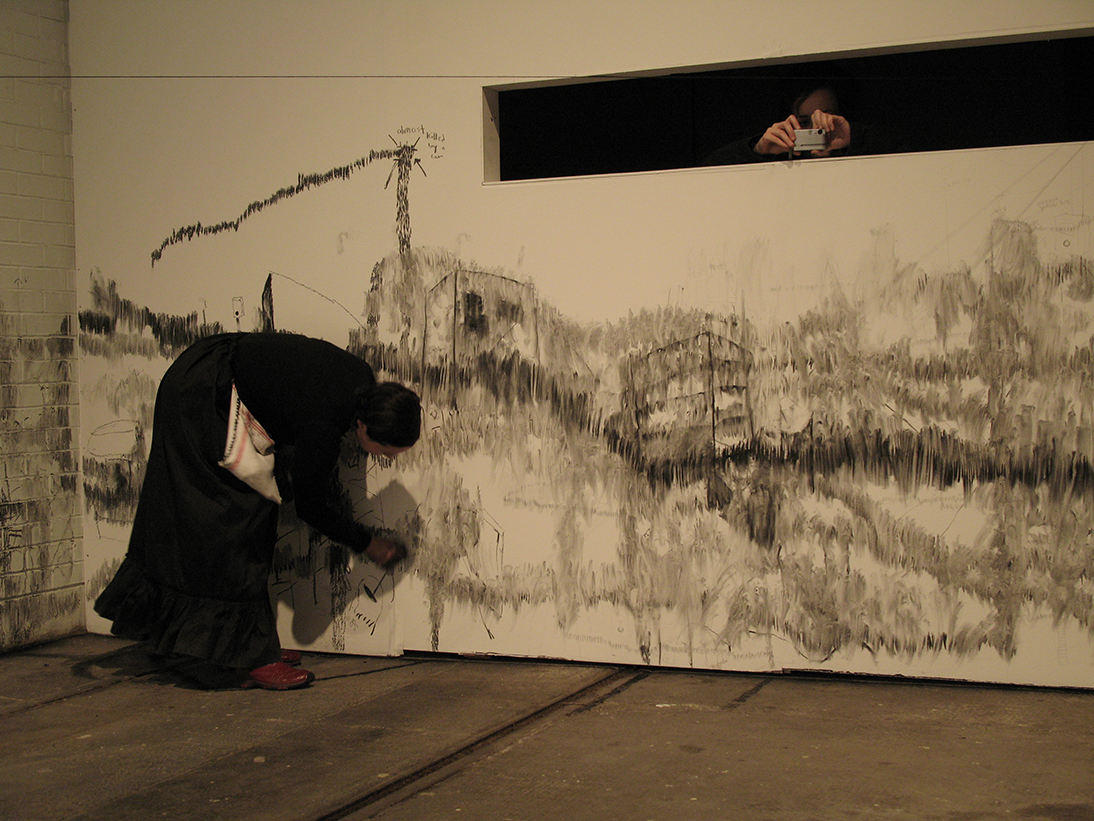 Drawing on Site  National Review of Live Art, Glasgow, Scotland, 2008