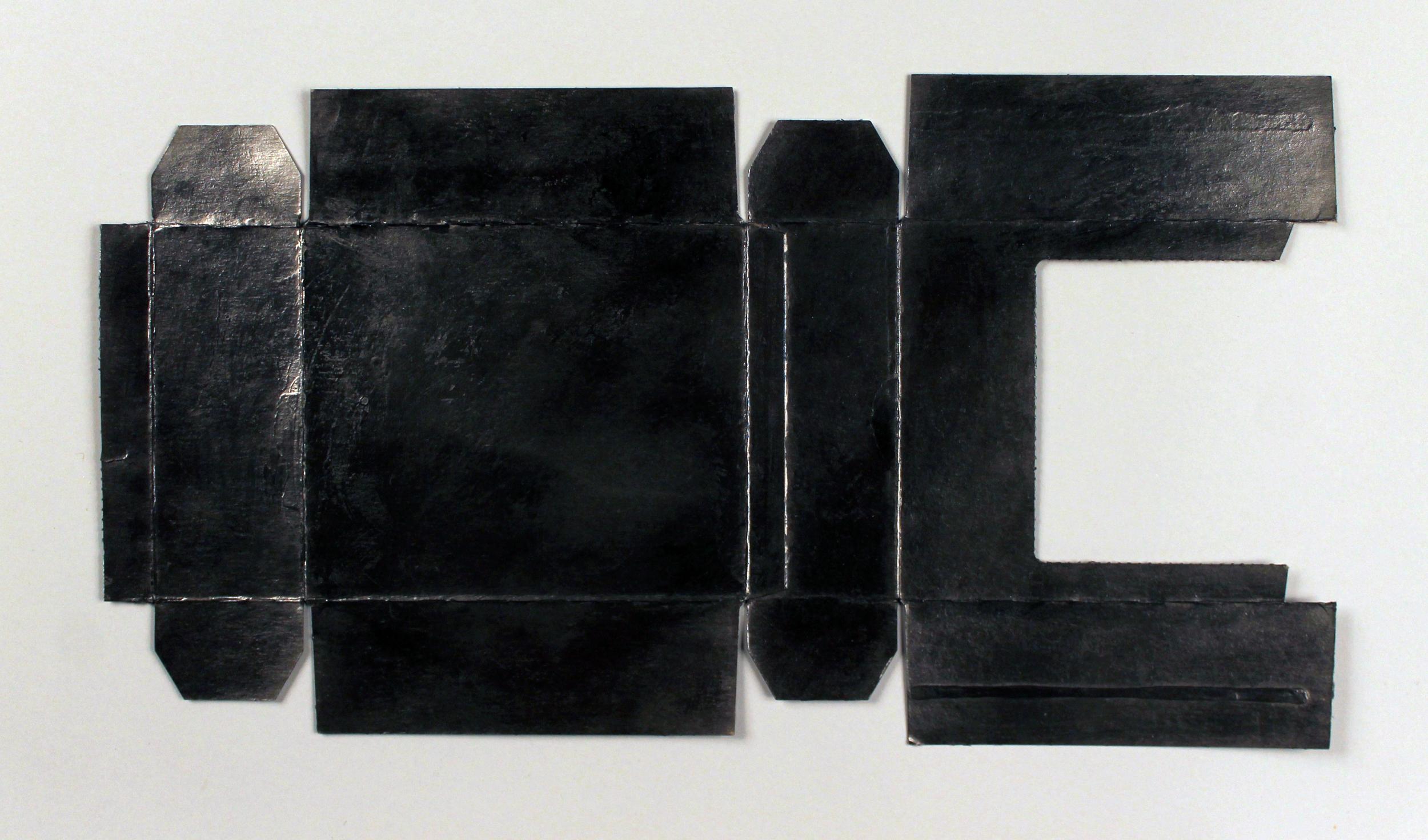 "Untitled Gesture (Elegy)  Graphite powder and archival wax on cardboard, 14.25"" x 23.25"" (framed), 2013"