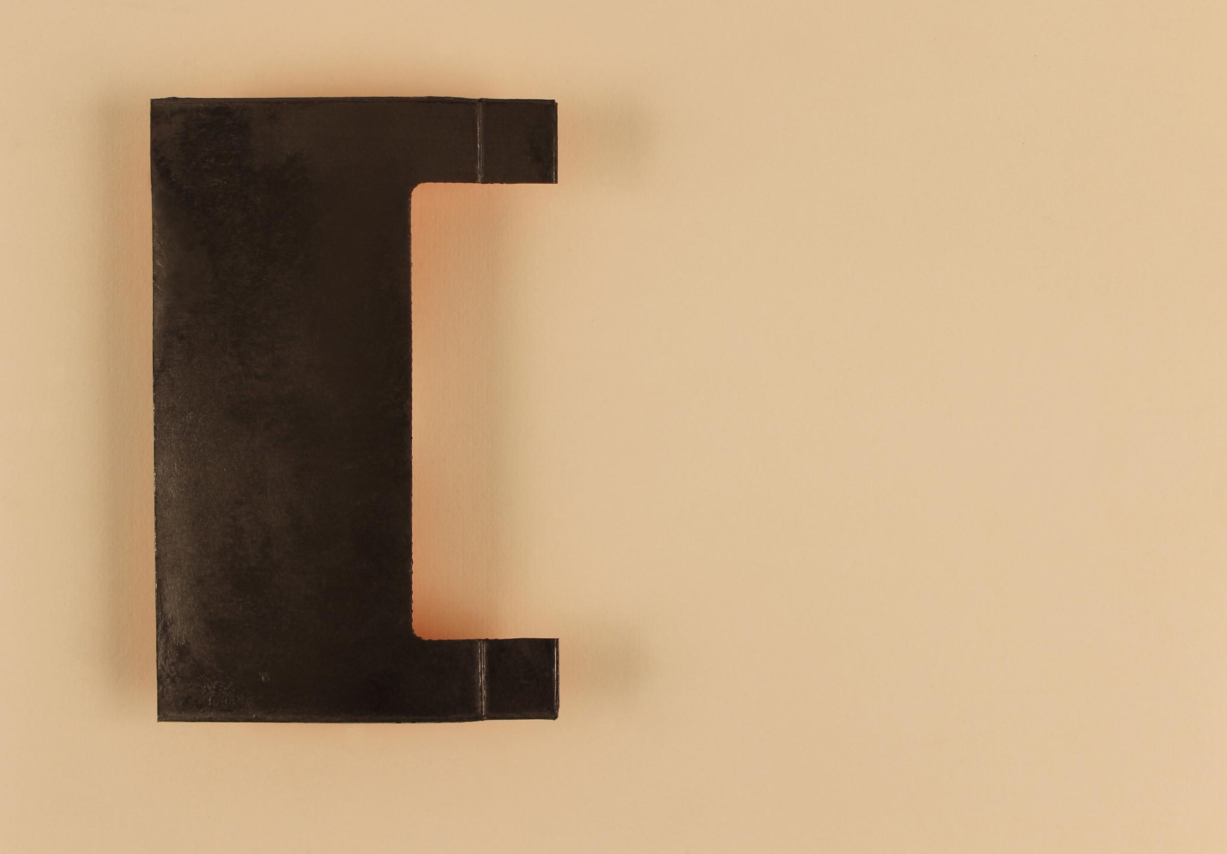 "Chroma (C for Derek Jarman)  Graphite powder, silkscreened pigment, archival wax on cardboard 14"" x 19.5"" 2015"