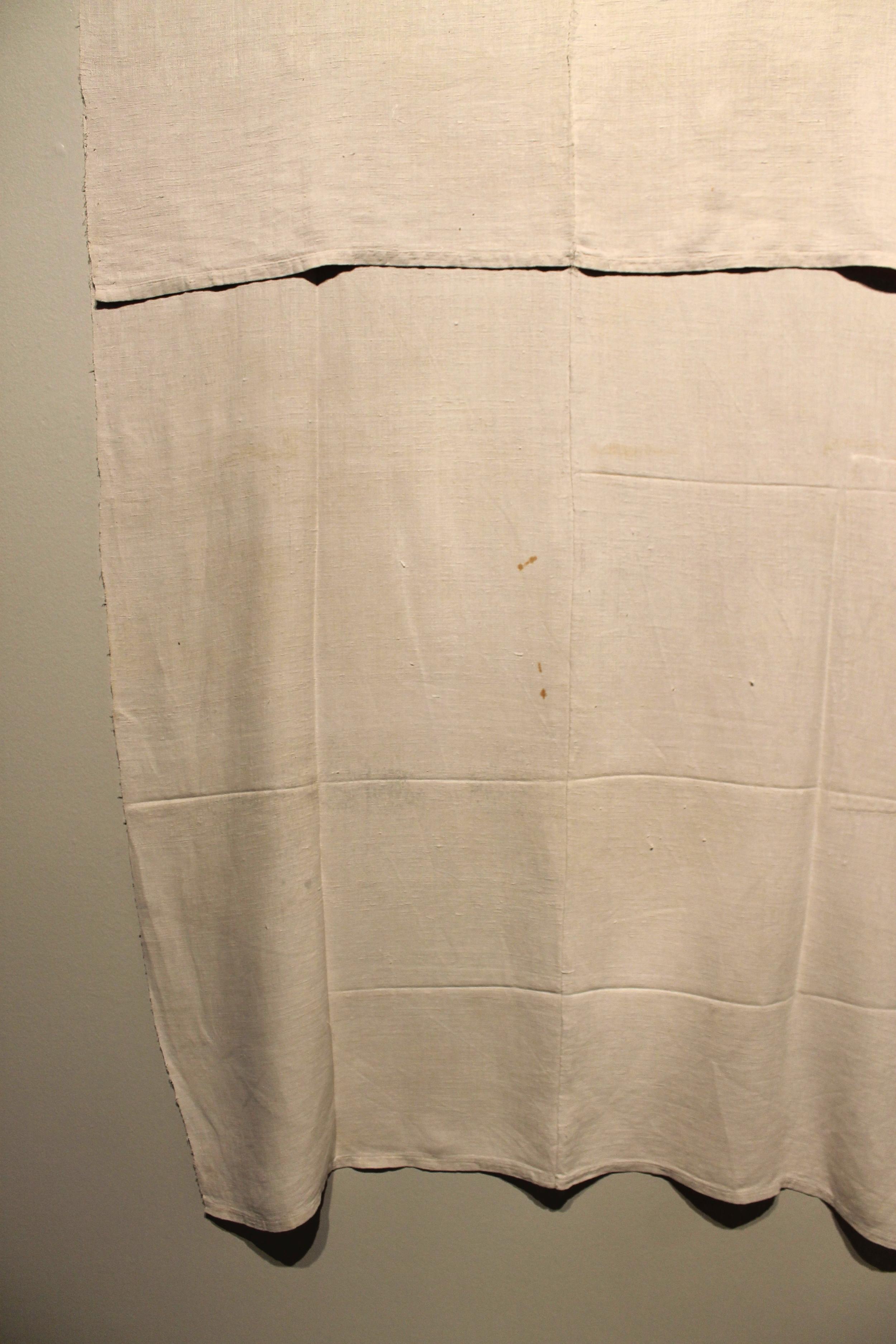 Composition (figure 68)  (detail) ,  handwoven antique linen, 2015