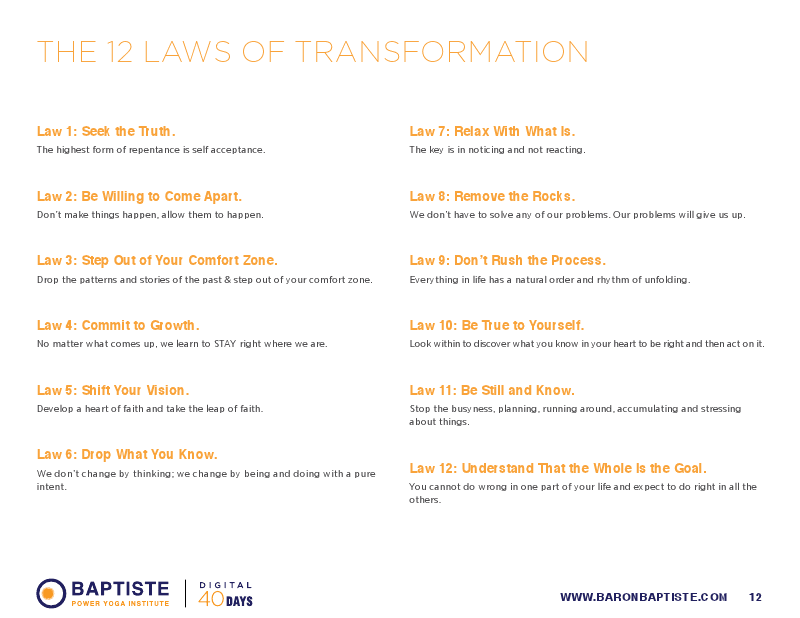 To learn more bout the 12 laws of transformation • click here - and here too!