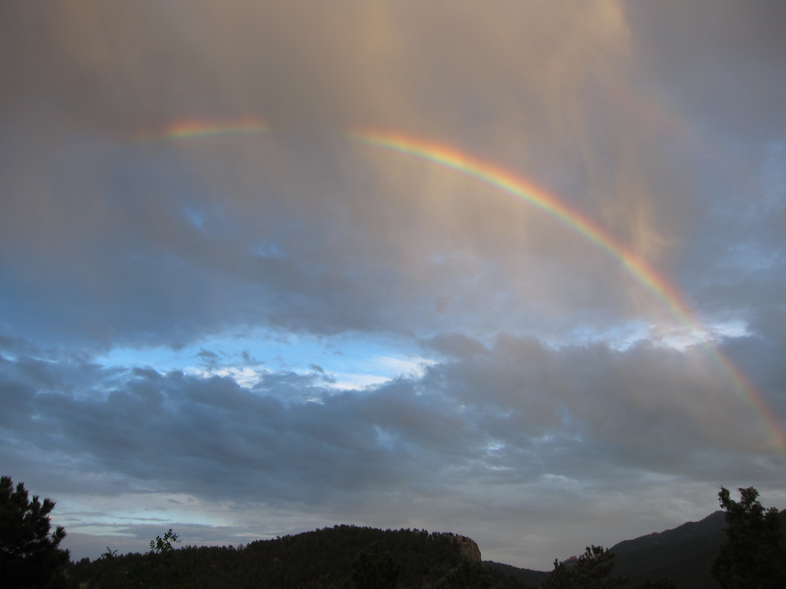 A rainbow appeared just after the storm