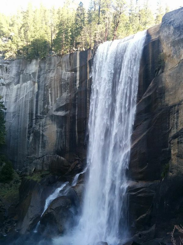 Gorgeous views of Vernal Falls do a wonderful job of distracting you from the steep incline ahead. For awhile at least.