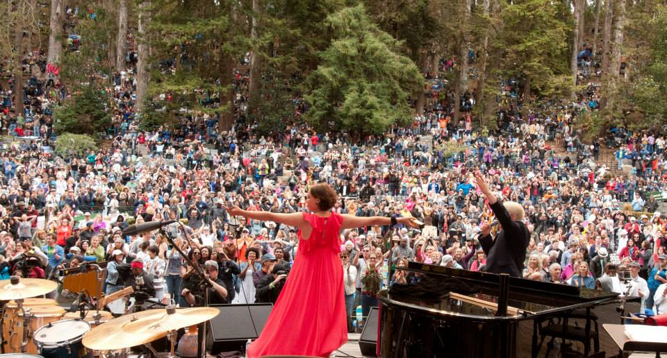 Pink Martini brings the entire outdoor amphitheater to its feet at last year's Stern Grove Festival. (Photo courtesy of the Stern Grove Festival Association)