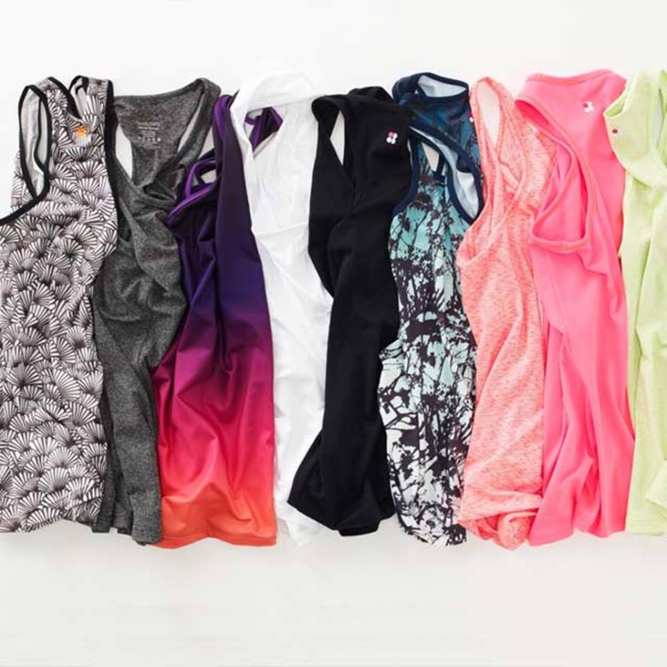 Sweaty Betty's gorgeous line of  Athlete Vests .  Live in your workout clothes you love, and I swear you'll sweat much more often.