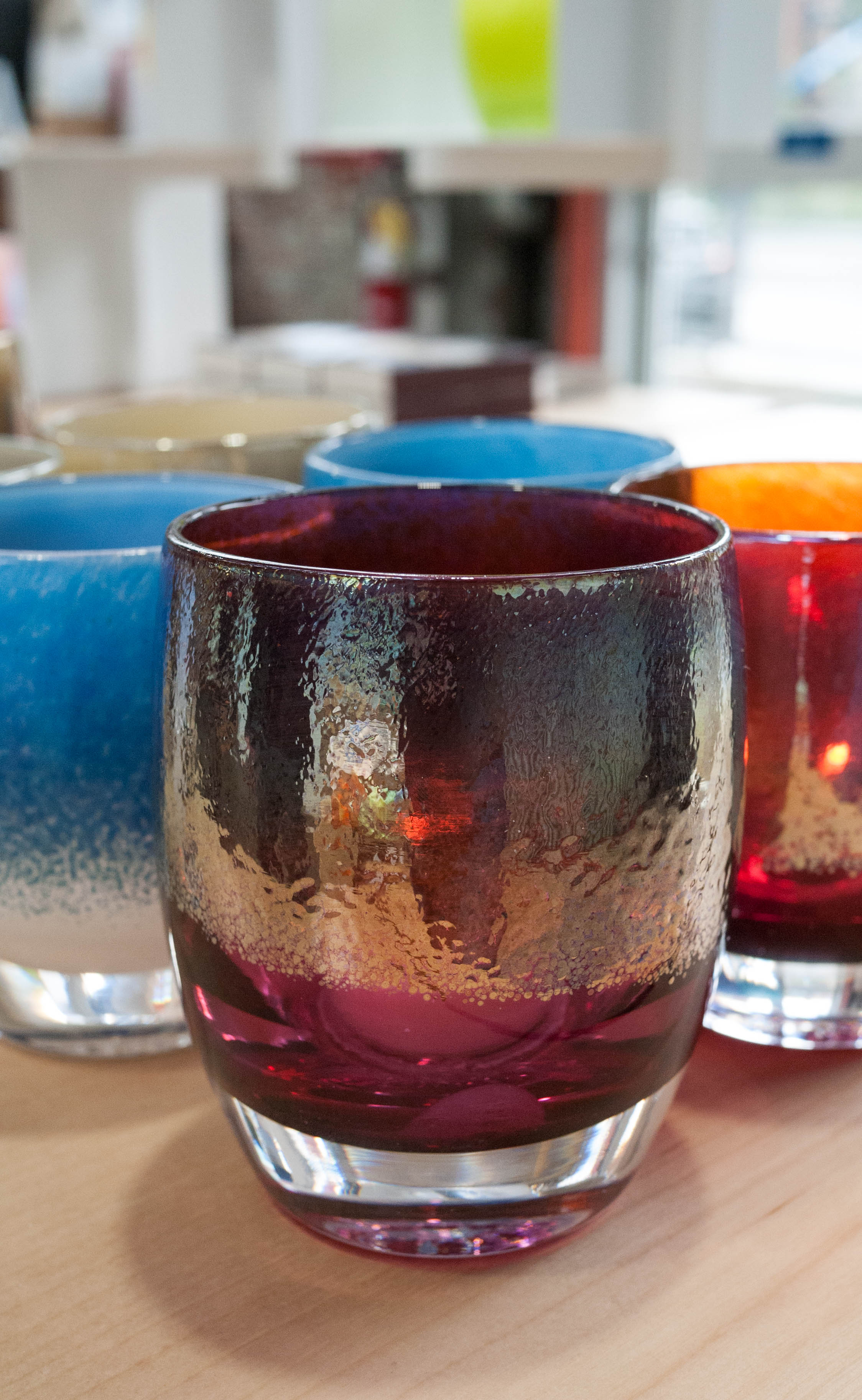 Check out this beauty! Each glassybaby is named and comes with a special story to explain how it came into the world! This one's name? DIVA. Fitting, don't you think?
