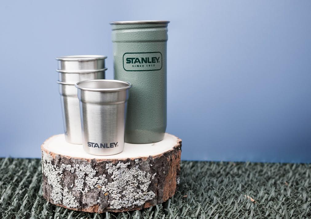 A salute to an outdoorsy rugged dad must include this shot glass set from Stanley! #whisky #camping