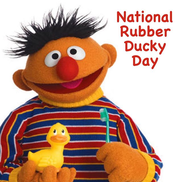 Today is #NationalRubberDuckyDay! Celebrate with your favorite Rubber Ducky with @SesameStreet's collection on #hoopla! #SesameWorkshop