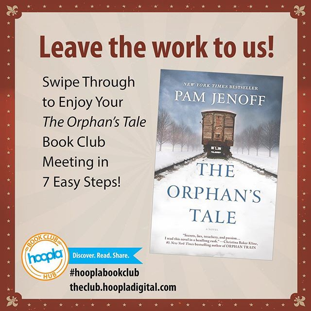 Looking to start your own #bookclub? Check out our easy tips on how to start your THE ORPHAN'S TALE book club meeting this month!  #bookclub #hooplabookclub #hoopladigital #bookaholic #bookstagram