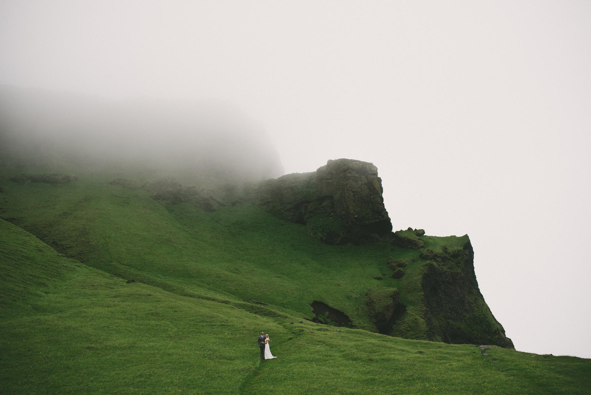 wedding photo Reynisfjara fog