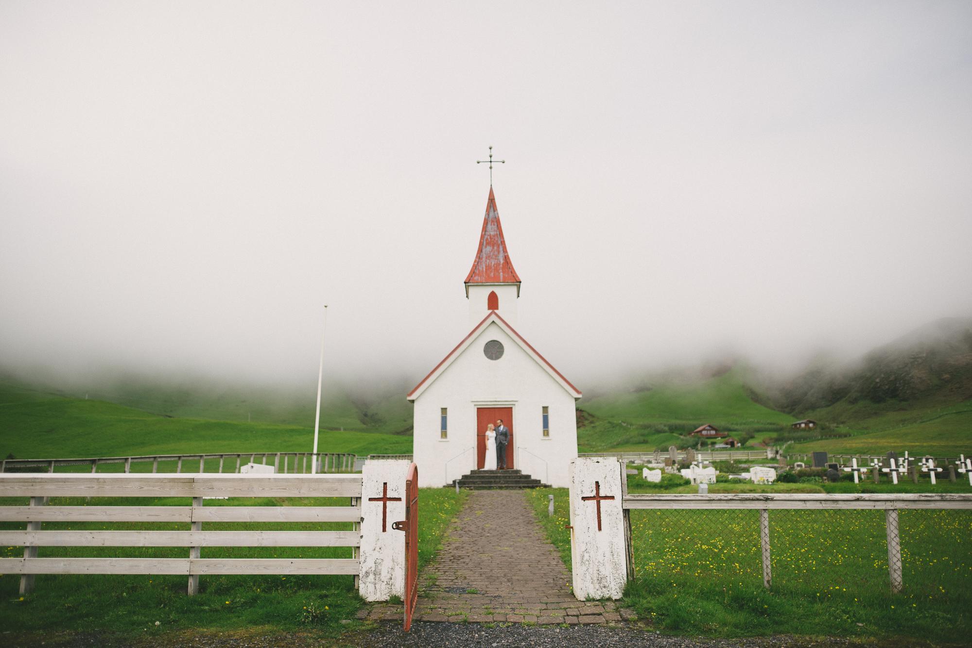 iceland wedding vik church