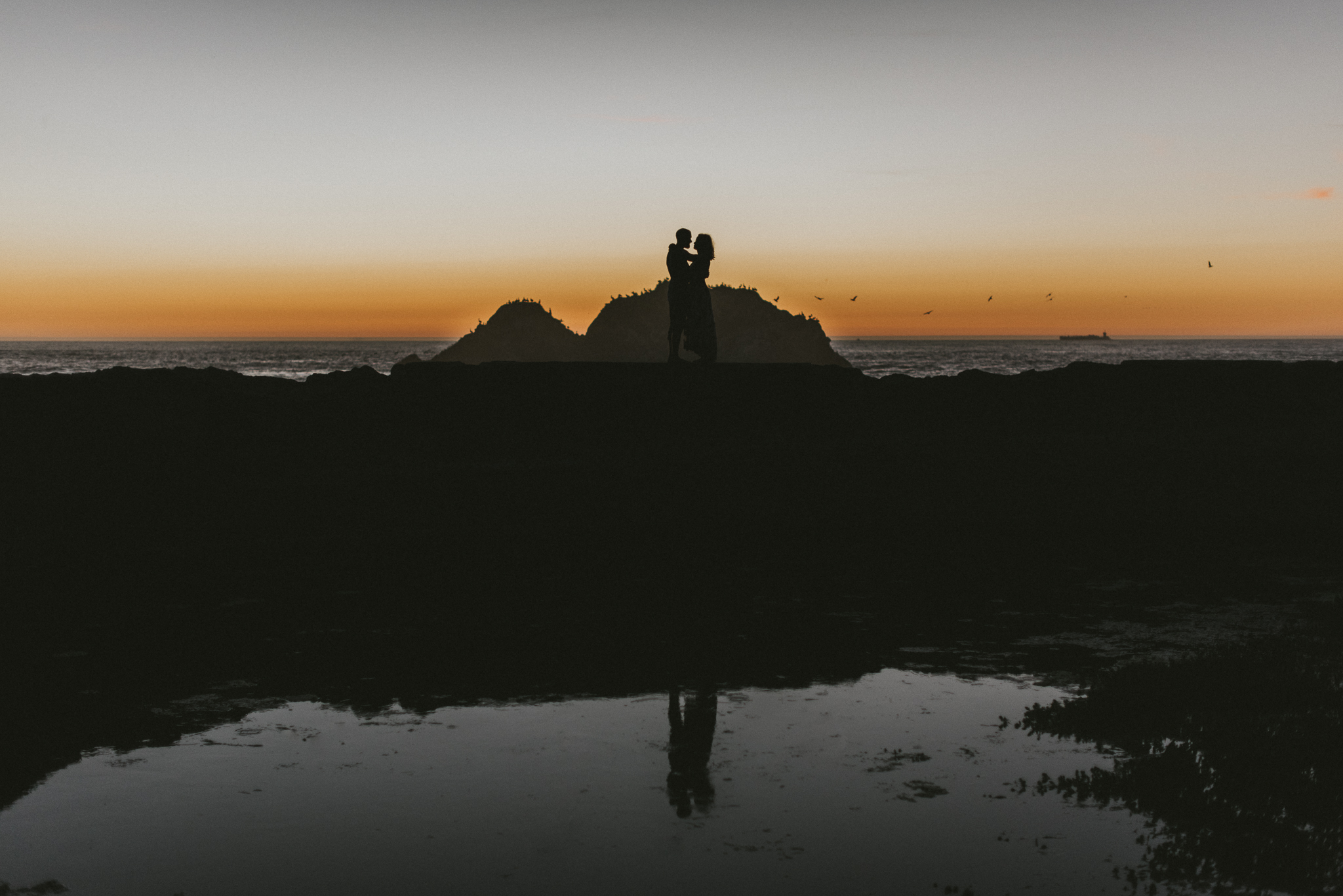 San Francisco Engagement Sutro Baths Destination Wedding Photographer