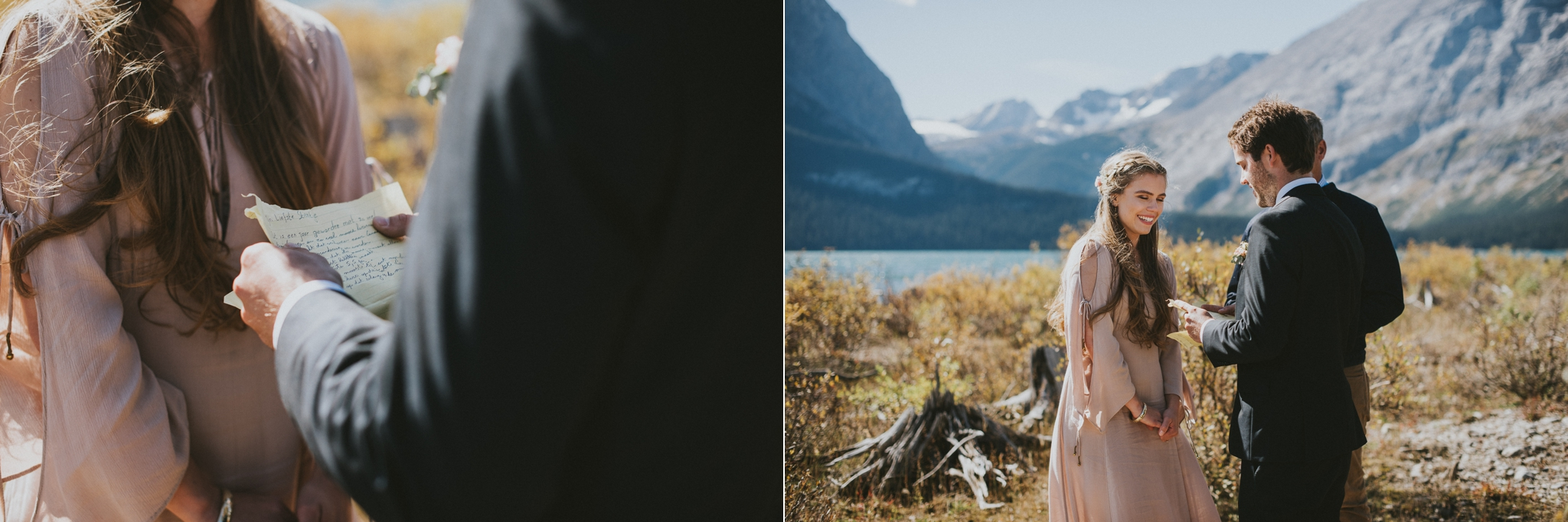 kananaskis elopement vow exchange