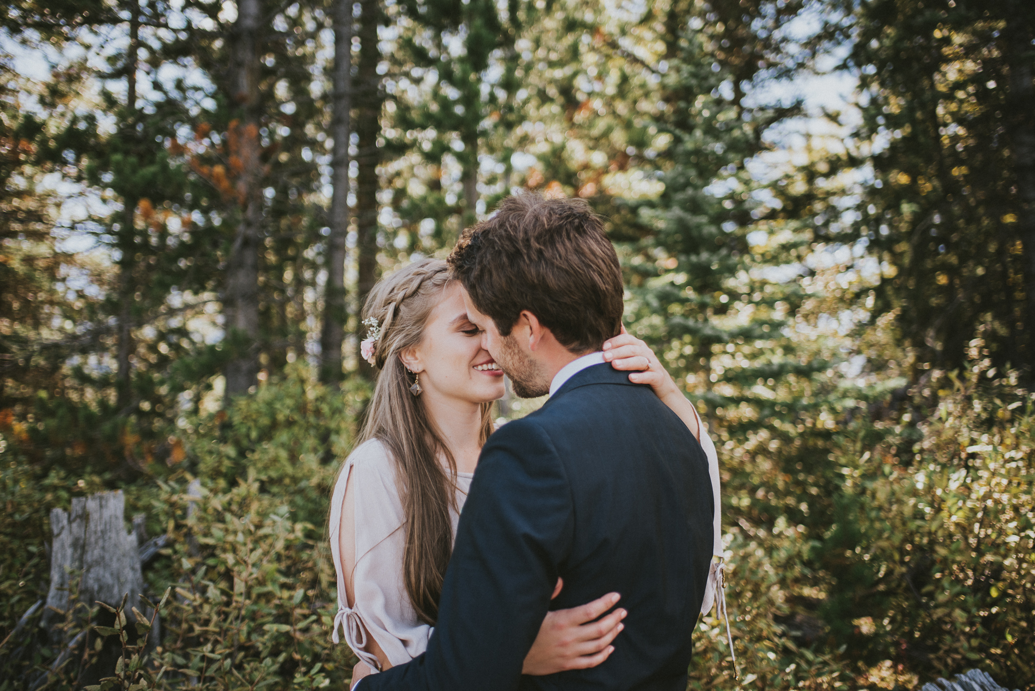 forest kananaskis bride groom elopement